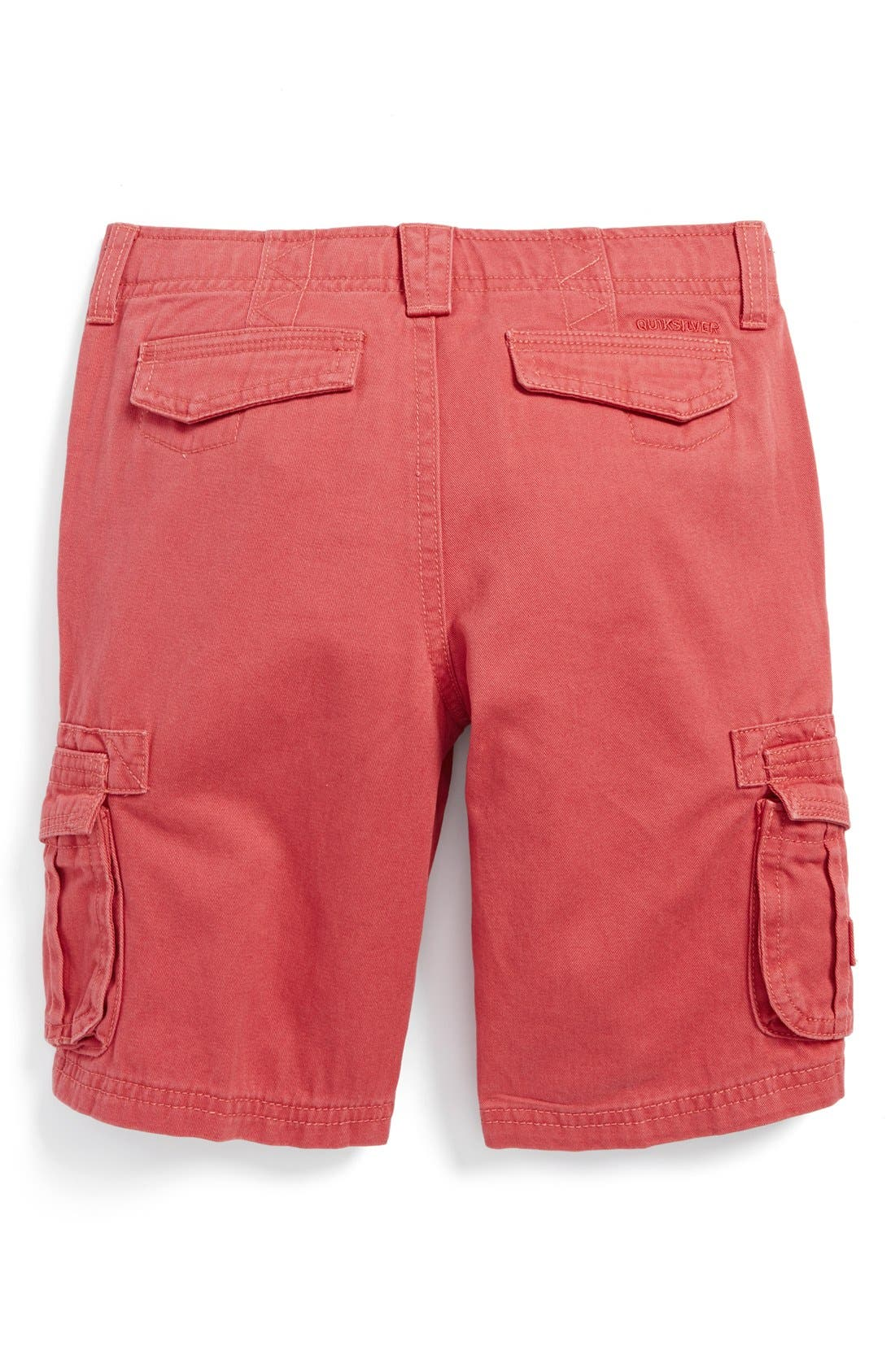 Alternate Image 2  - Quiksilver 'Deluxe' Cotton Twill Cargo Shorts (Little Boys)