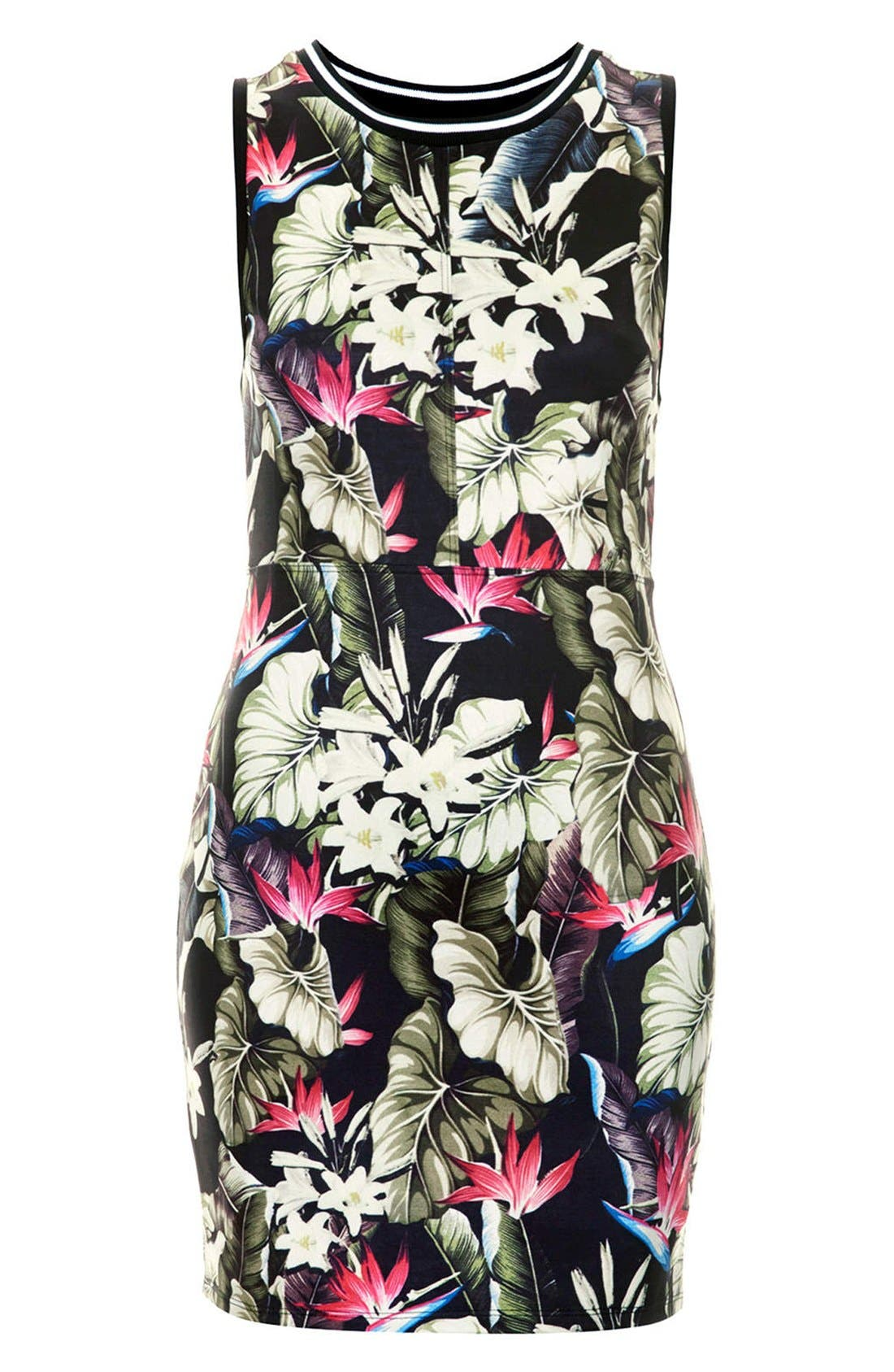 Alternate Image 3  - Topshop 'Island Life' Tropical Print Body-Con Dress