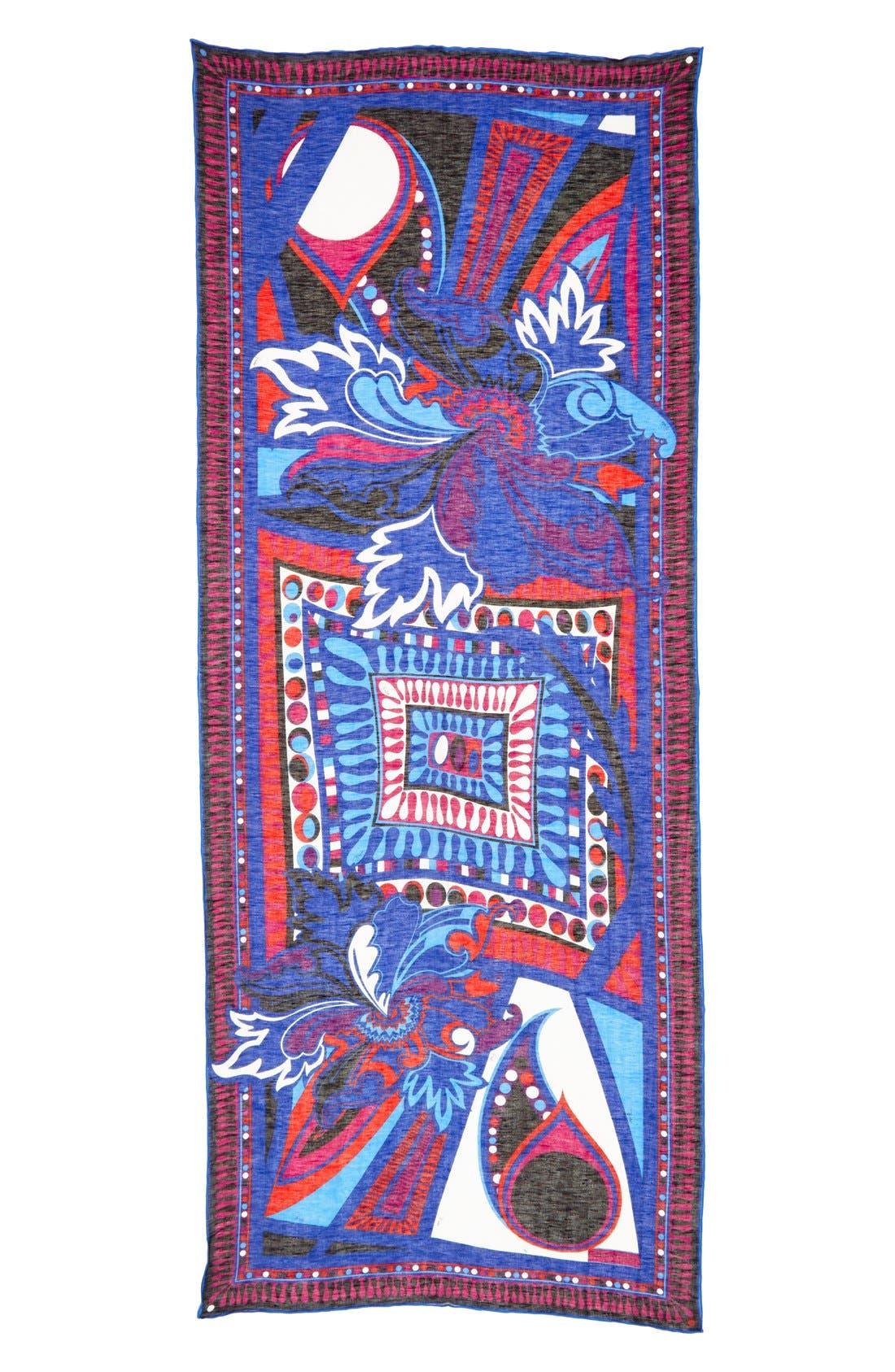 Alternate Image 2  - Emilio Pucci 'Taitu' Linen & Cotton Scarf