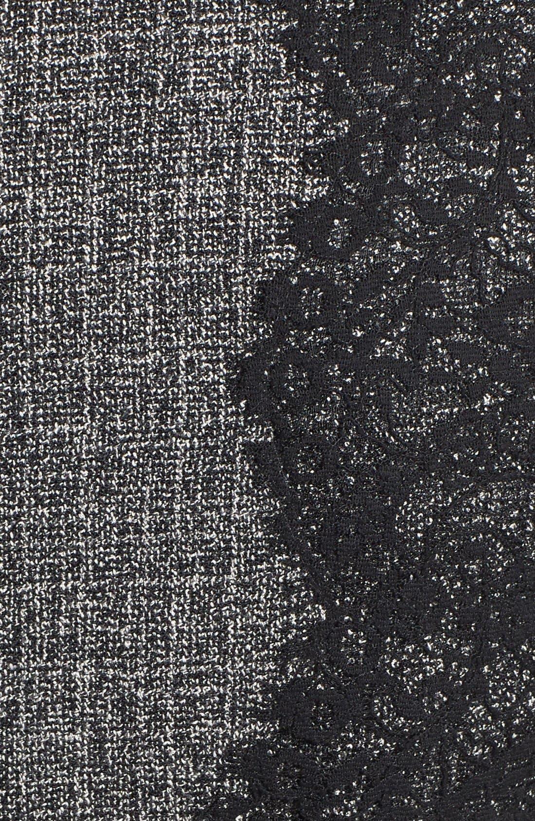 Alternate Image 4  - Betsey Johnson Lace Trim Tweed Sheath Dress