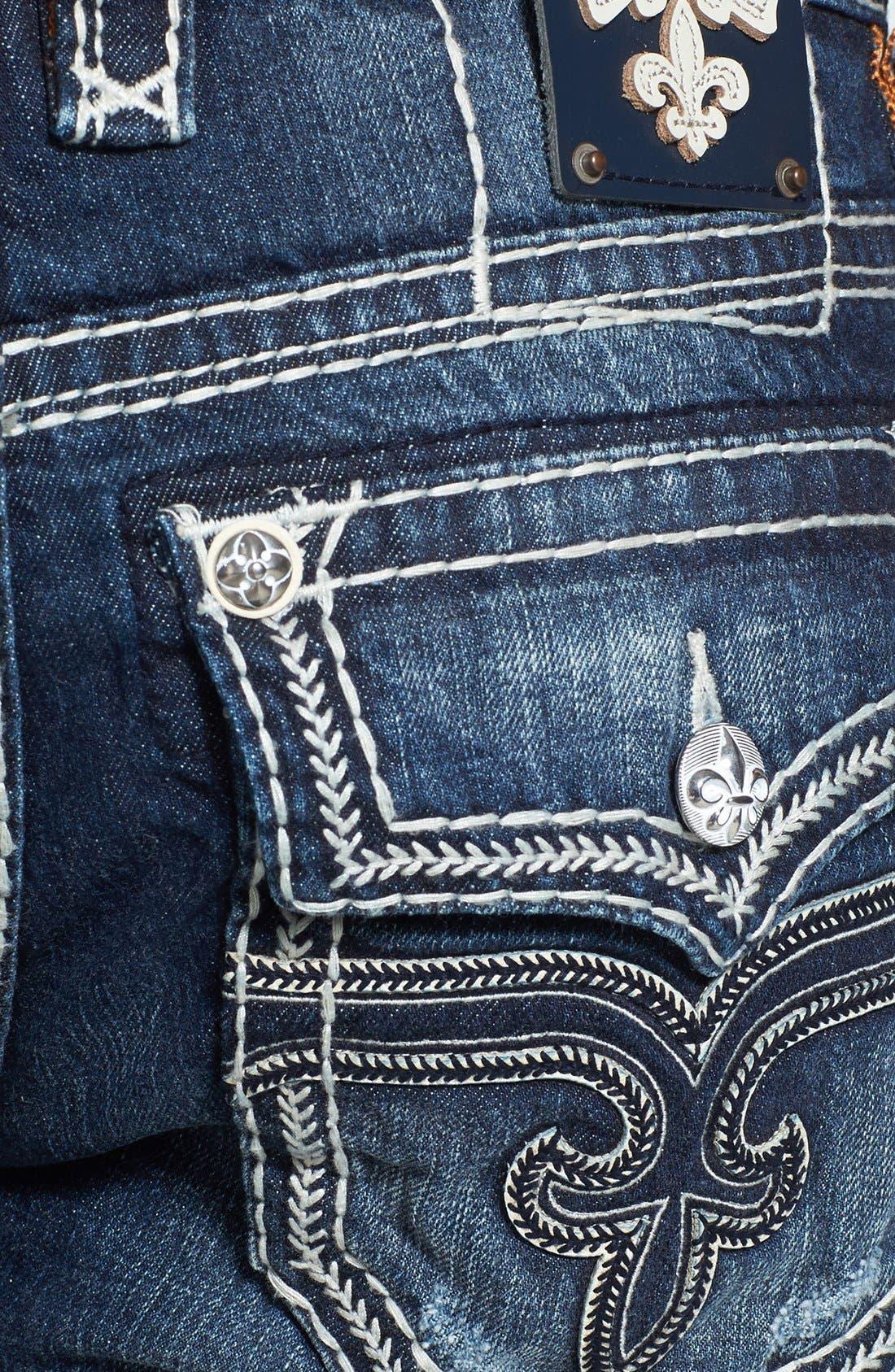 Alternate Image 4  - Rock Revival 'Saul' Straight Leg Jeans (Dark Blue)