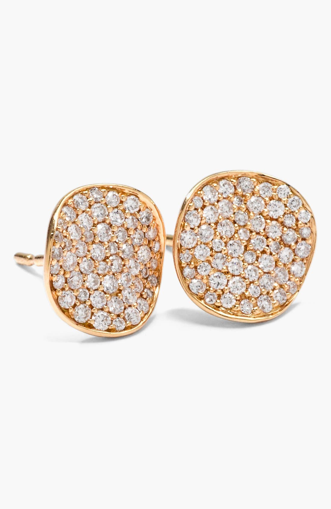 Alternate Image 1 Selected - Ippolita 'Stardust' 18k Gold & Diamond Disc Earrings
