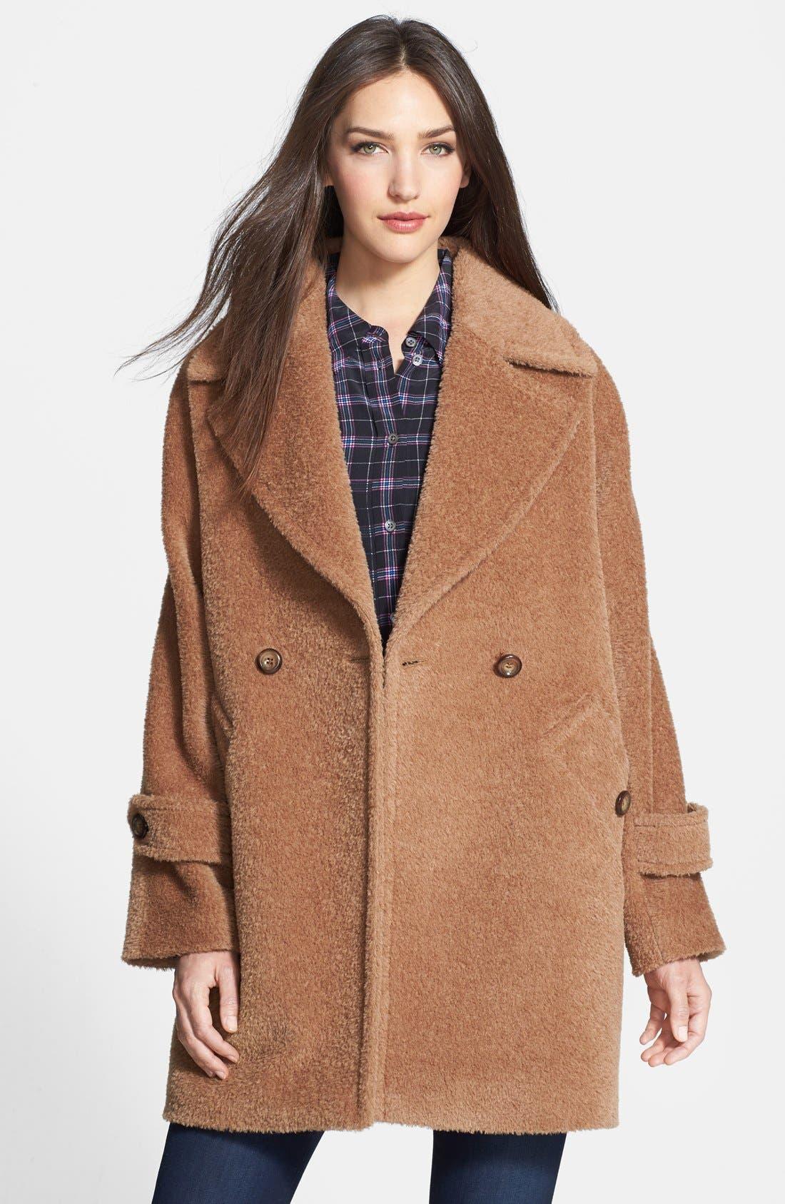 Main Image - Trina Turk 'Nancy' Double Breasted Wool & Alpaca Blend Coat