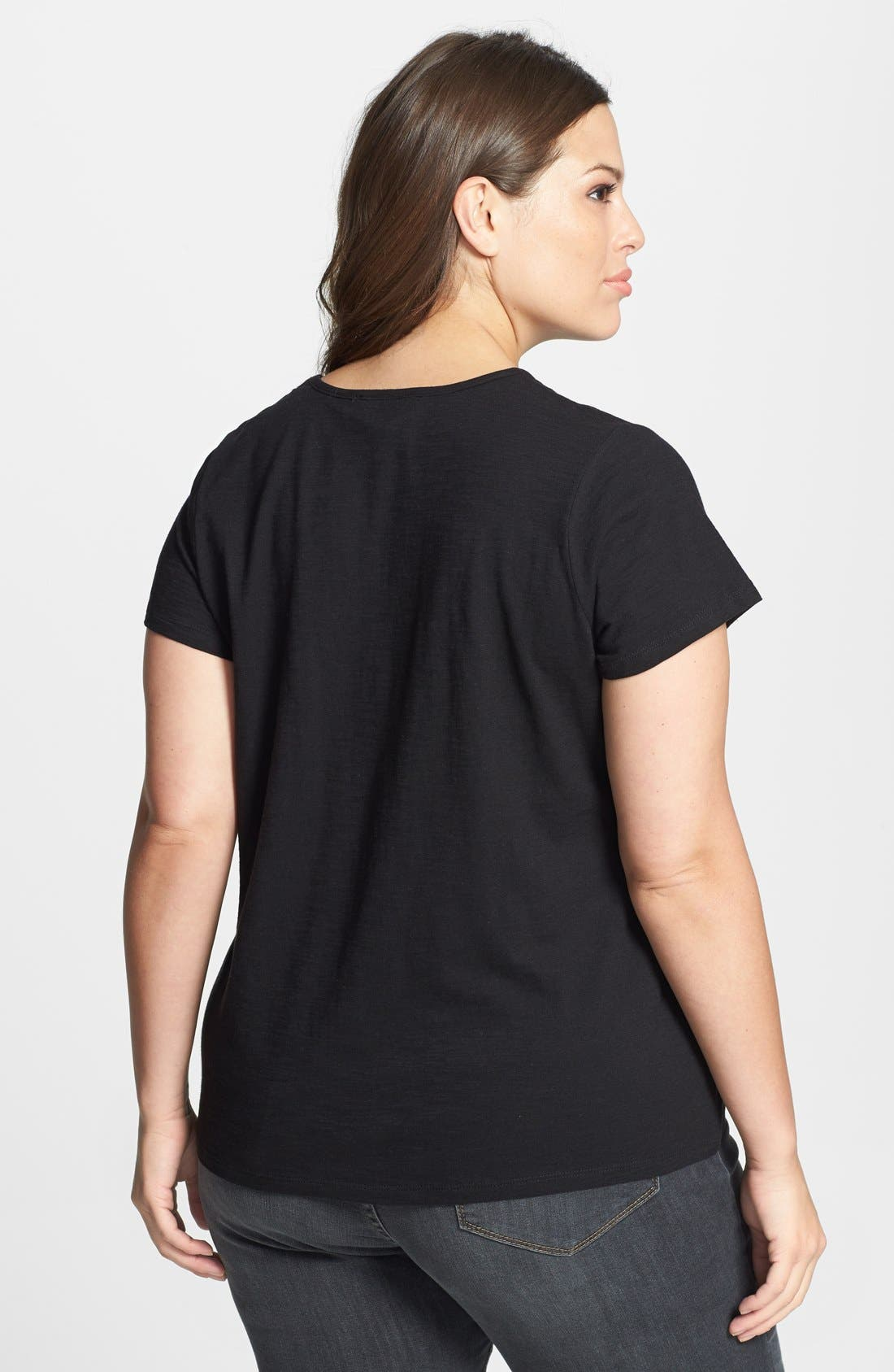 Alternate Image 2  - Two by Vince Camuto 'Born to be Loved' Slub Jersey Tee (Plus Size)