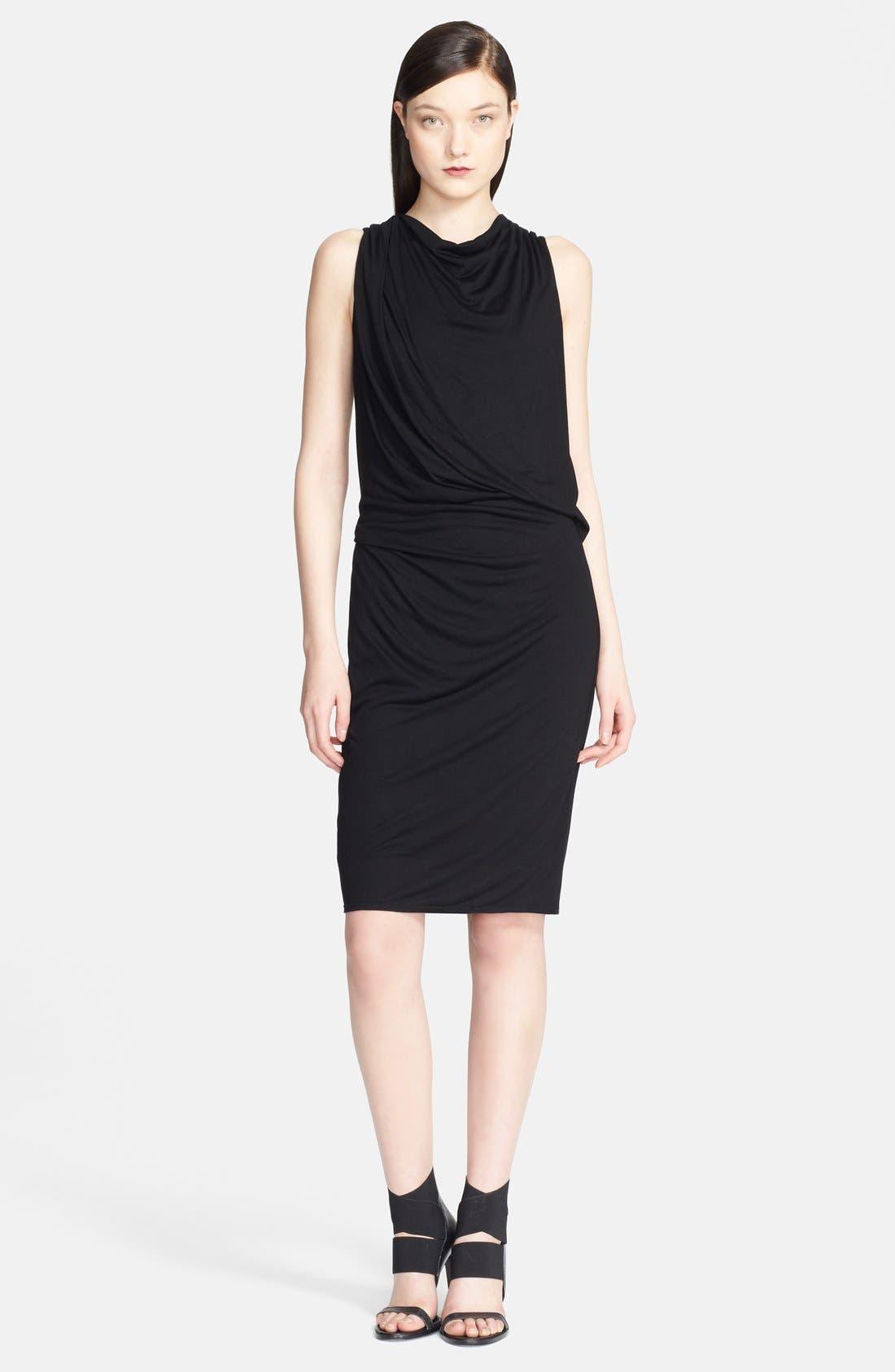 Main Image - Helmut Lang 'Scala' Draped Crossover Back Jersey Dress