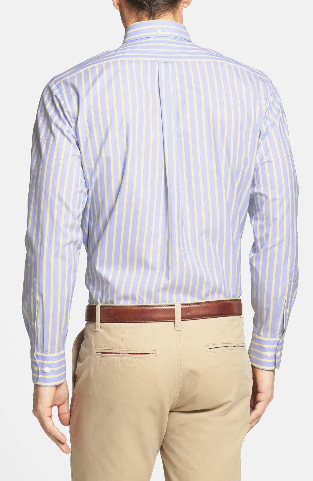 Alternate Image 2  - Façonnable Club Fit Stripe Sport Shirt