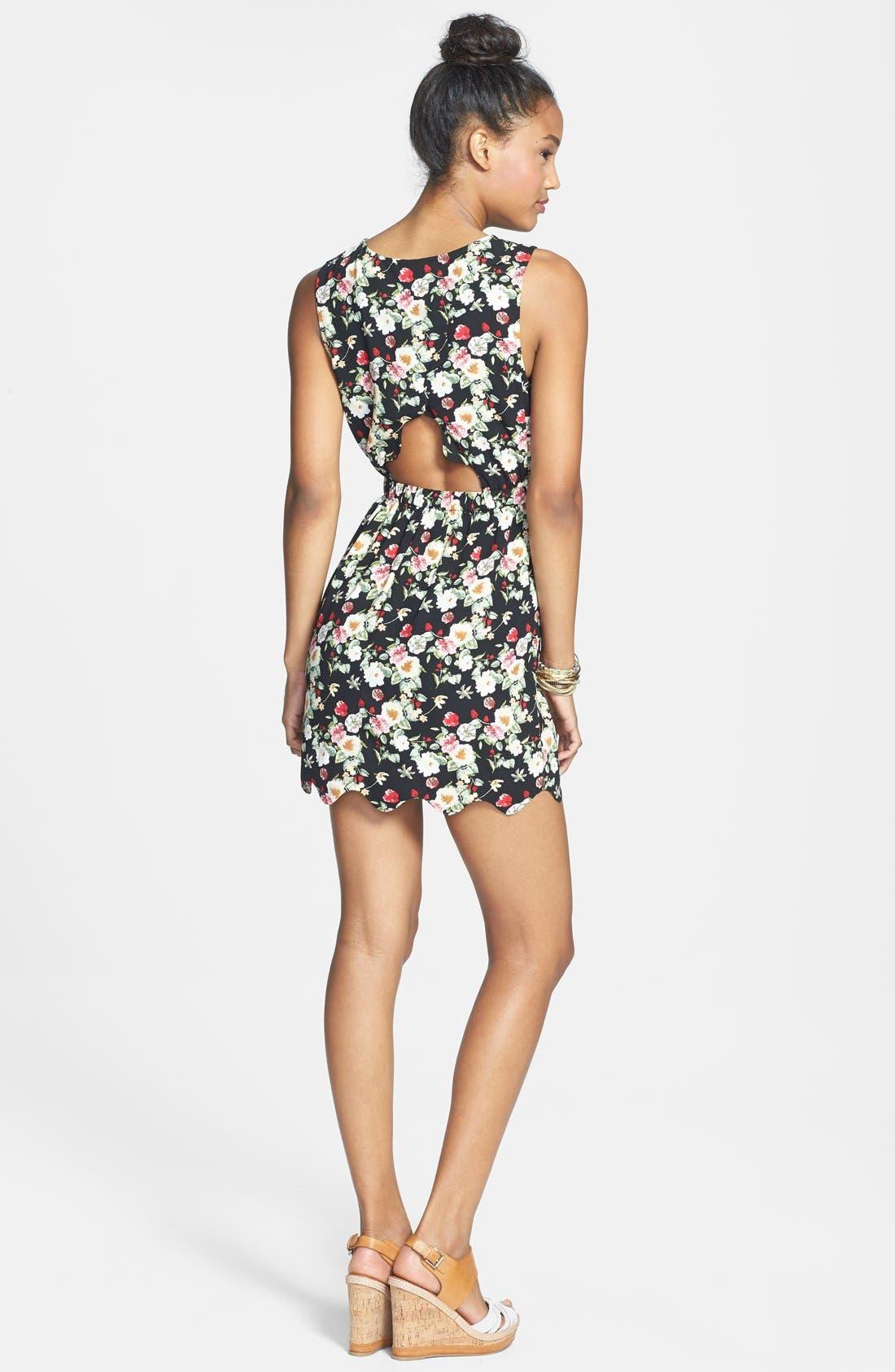 Alternate Image 2  - BCNU Back Cutout Dress (Juniors)