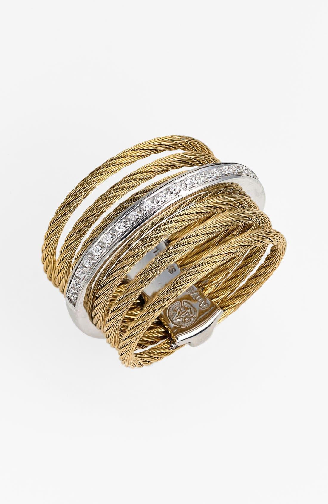 Main Image - ALOR® 7-Row Cable & Diamond Ring