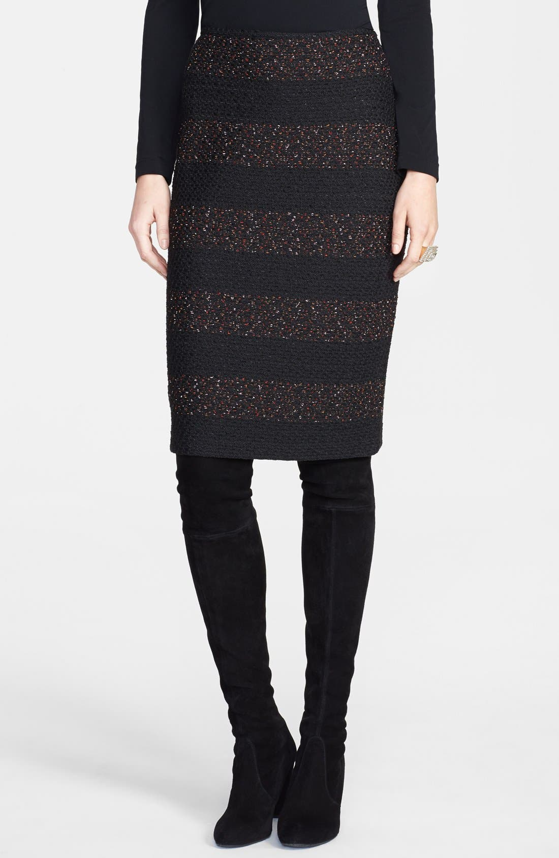 Main Image - St. John Collection Textured Fleck Knit Pencil Skirt