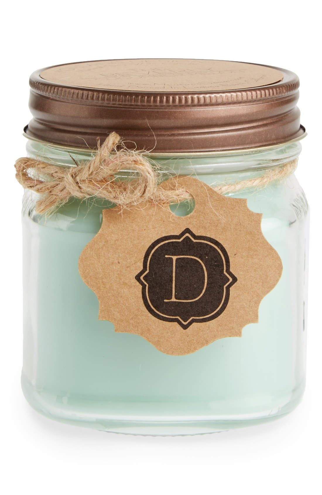 Main Image - Montane Designs Personalized Mini Mason Jar Cucumber Melon Candle