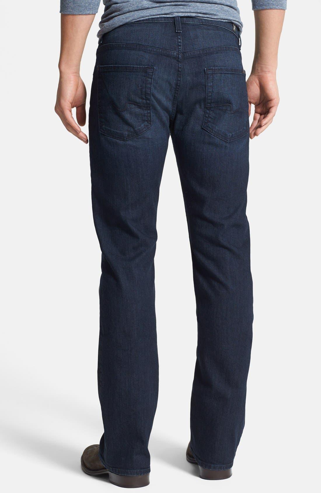 Alternate Image 2  - 7 For All Mankind® 'Brett' Bootcut Jeans (Sunset Hill Blue) (Online Only)