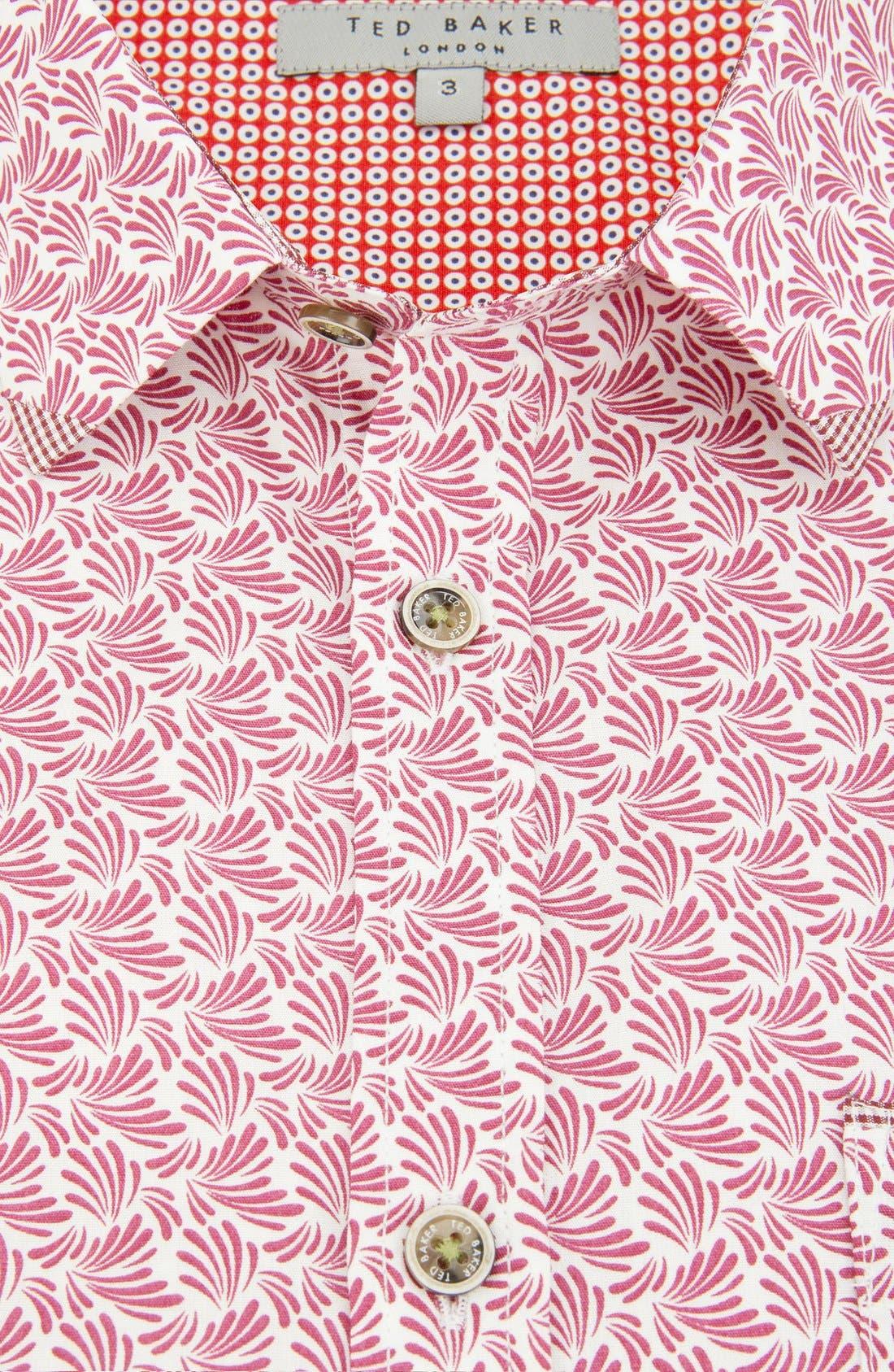 Alternate Image 4  - Ted Baker London 'Yurtamp' Short Sleeve Print Sport Shirt