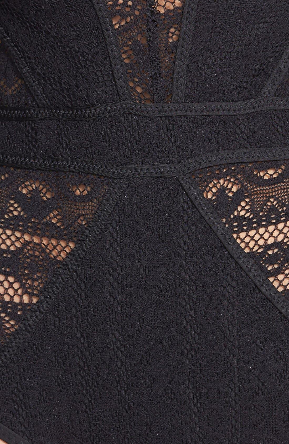 Alternate Image 3  - Becca 'Show & Tell' Crochet One-Piece Swimsuit