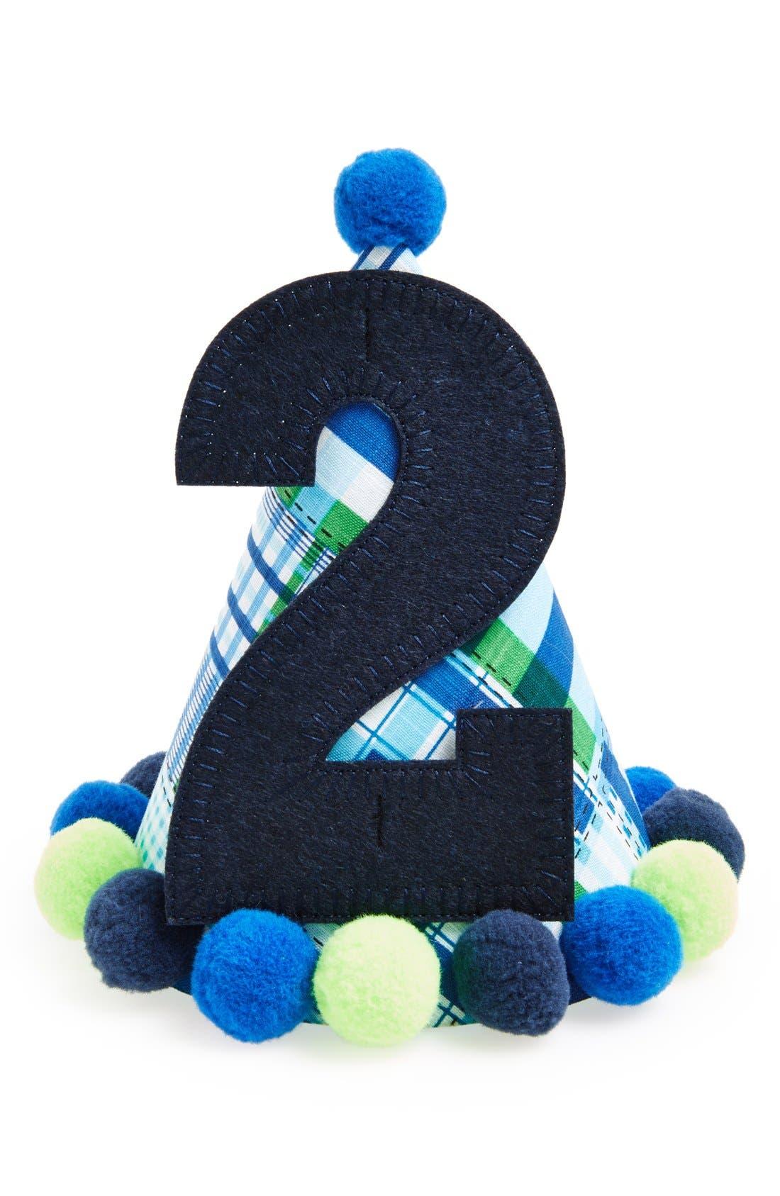Main Image - Mud Pie 'I'm Two' Birthday Hat (Baby Boys)