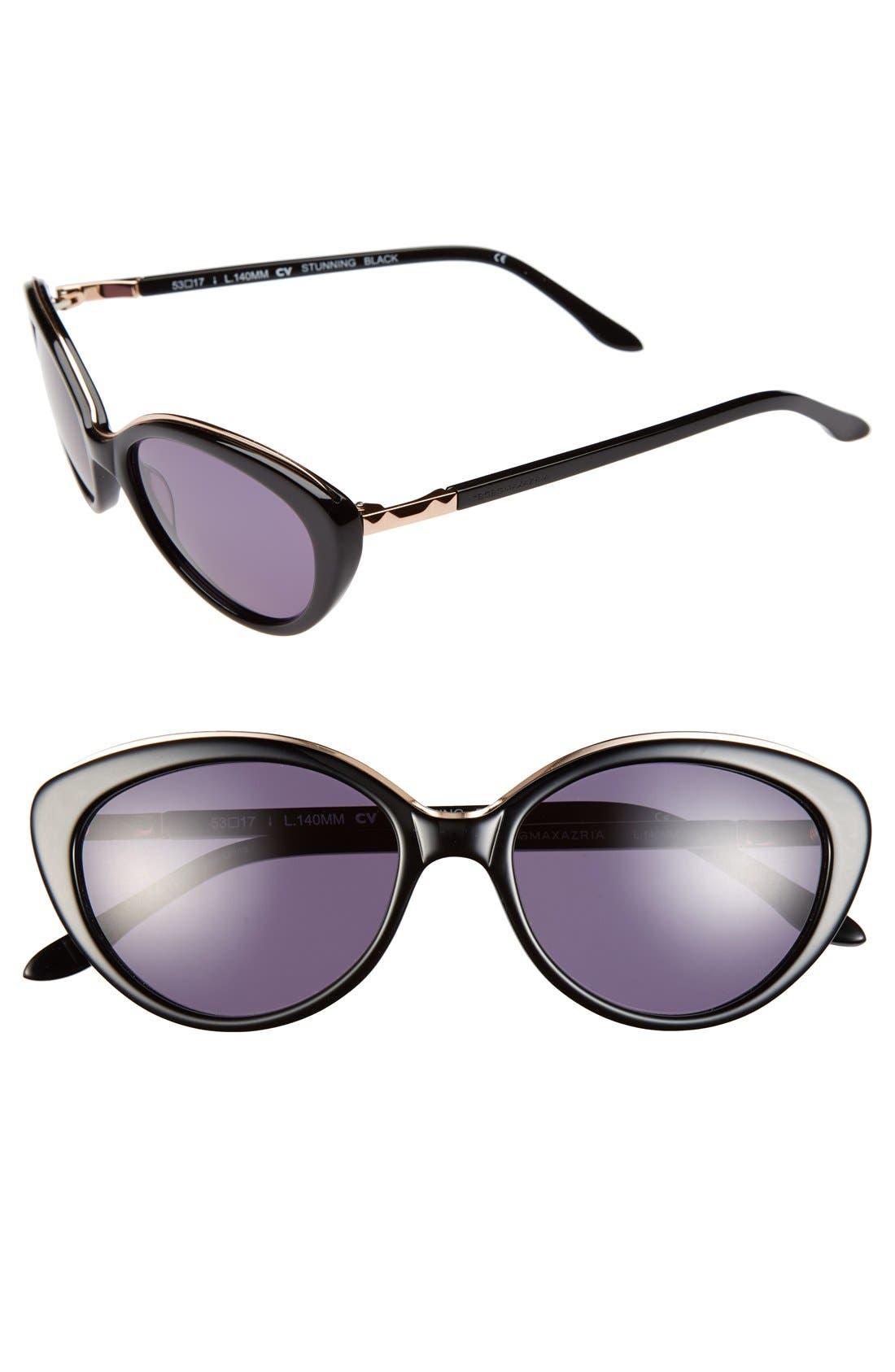 Main Image - BCBGMAXAZRIA 'Stunning' 53mm Cat Eye Sunglasses