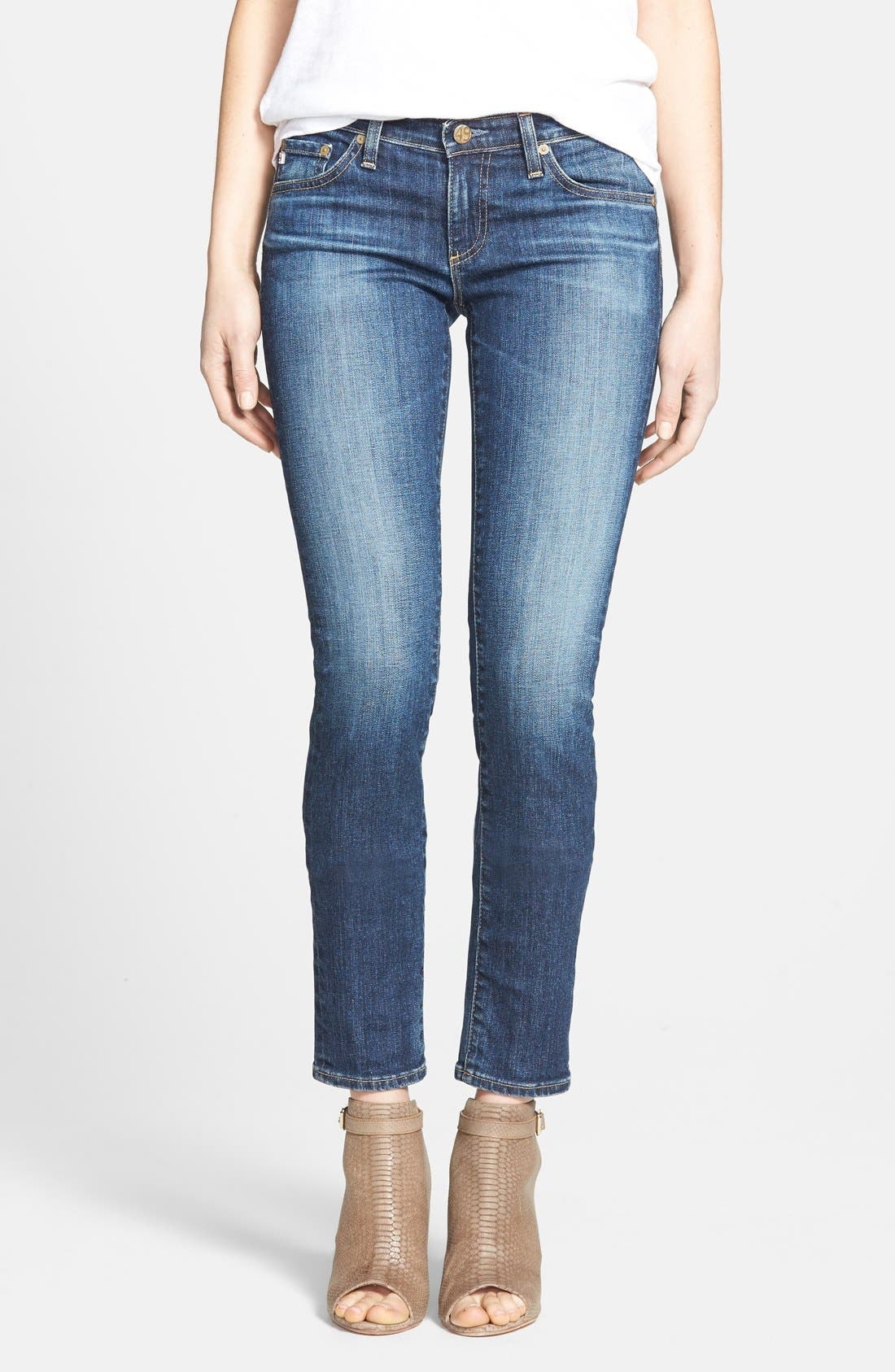 Alternate Image 1 Selected - AG 'The Stilt' Cigarette Leg Stretch Jeans (Eleven Year Intrigue) (Nordstrom Exclusive)