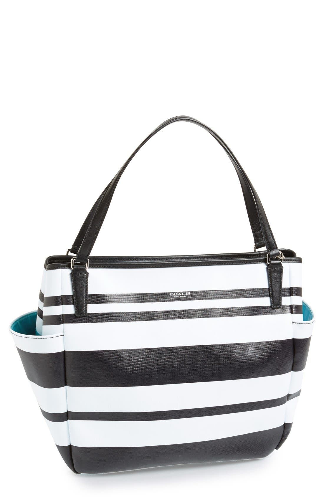 Alternate Image 1 Selected - COACH Stripe Diaper Bag