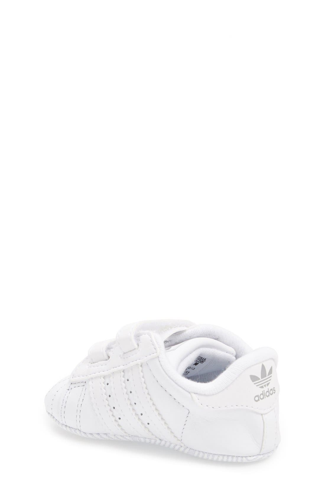 Alternate Image 2  - adidas 'Superstar 2' Crib Shoe (Baby)
