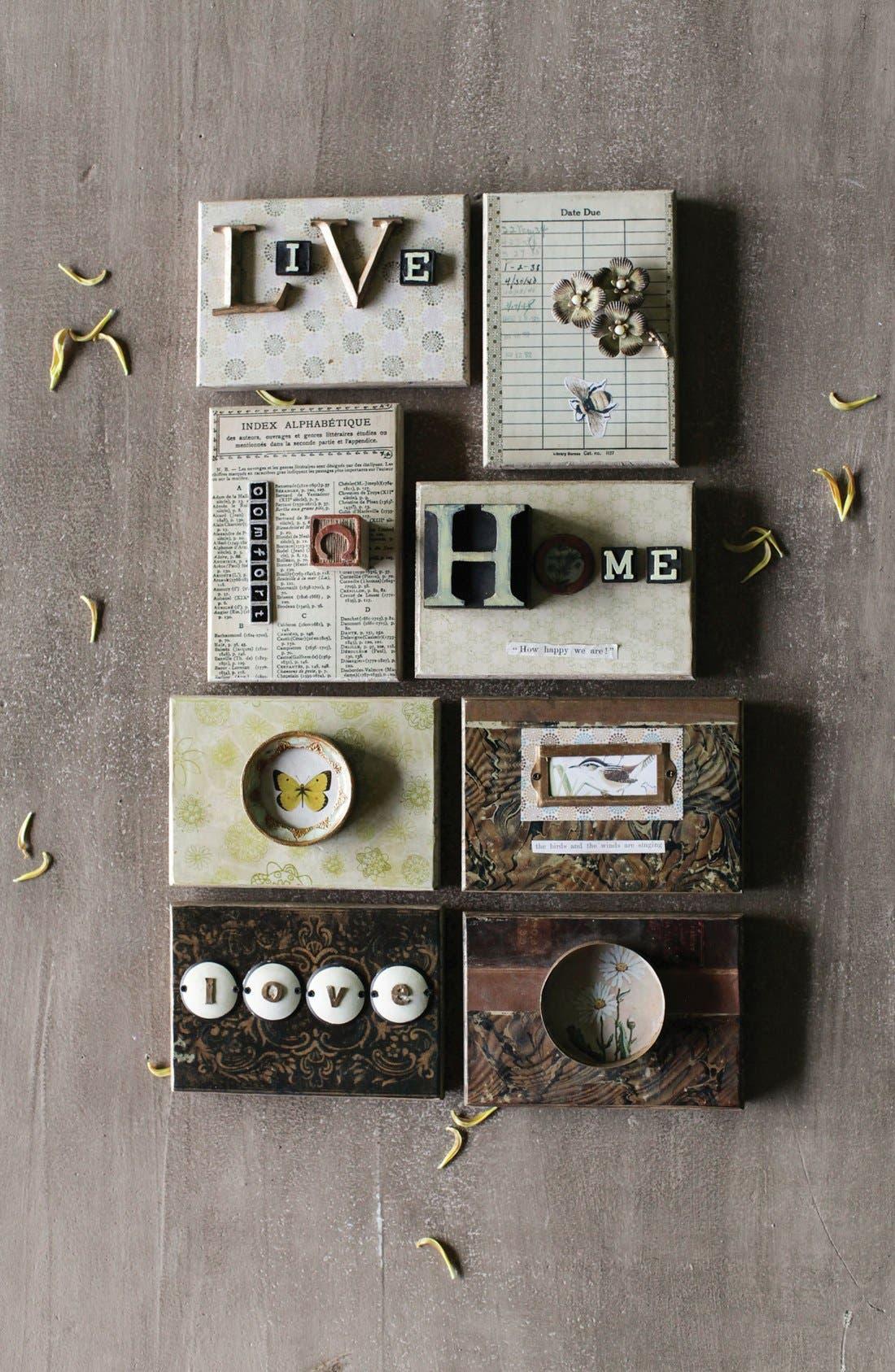 Alternate Image 2  - Creative Co-Op 'Home' Embellished Wooden Wall Art