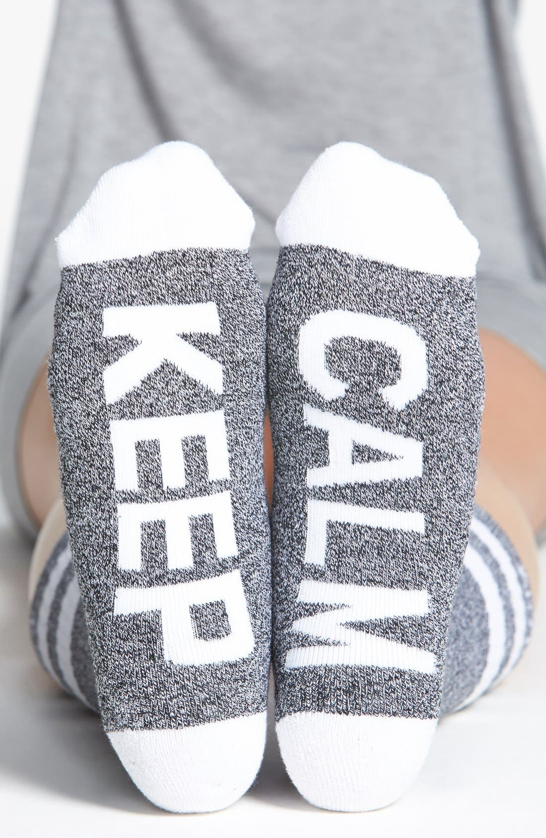 Alternate Image 1 Selected - Arthur George by R. Kardashian 'Keep Calm' Socks