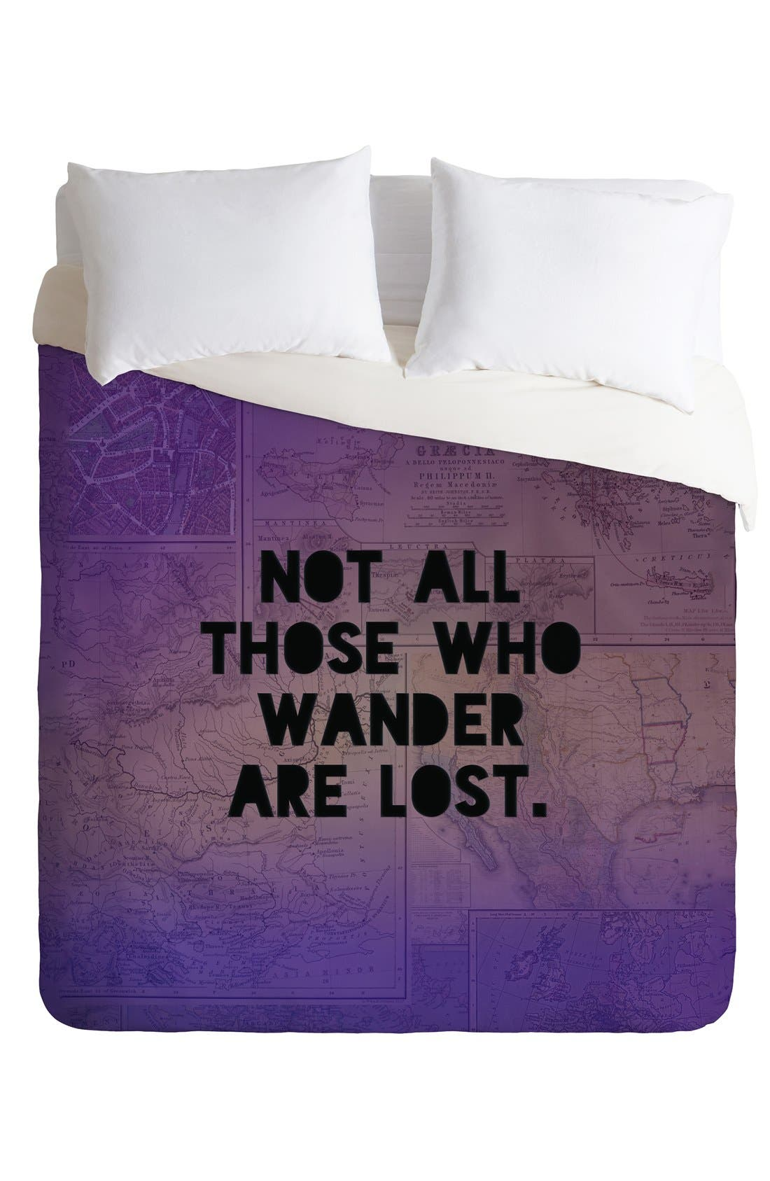 Alternate Image 2  - DENY Designs 'Those Who Wander' Duvet Cover Set
