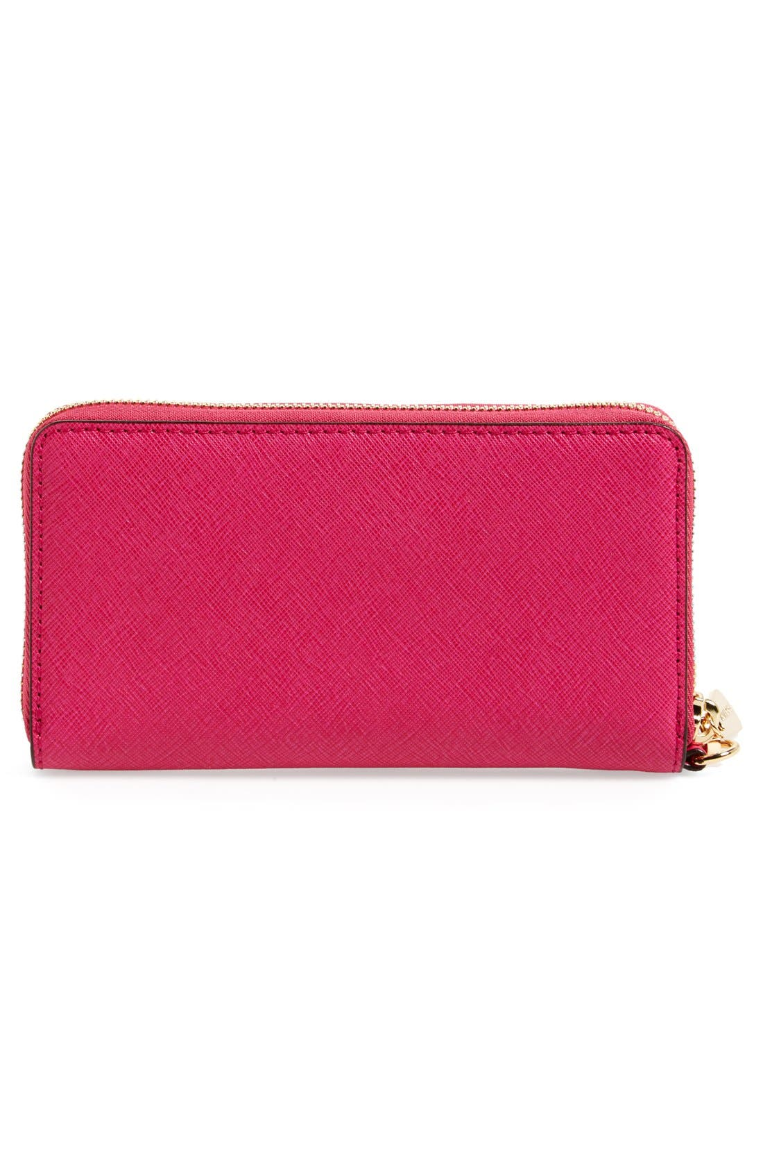 Alternate Image 3  - MICHAEL Michael Kors 'Large Jet Set' Saffiano Leather Phone Wristlet