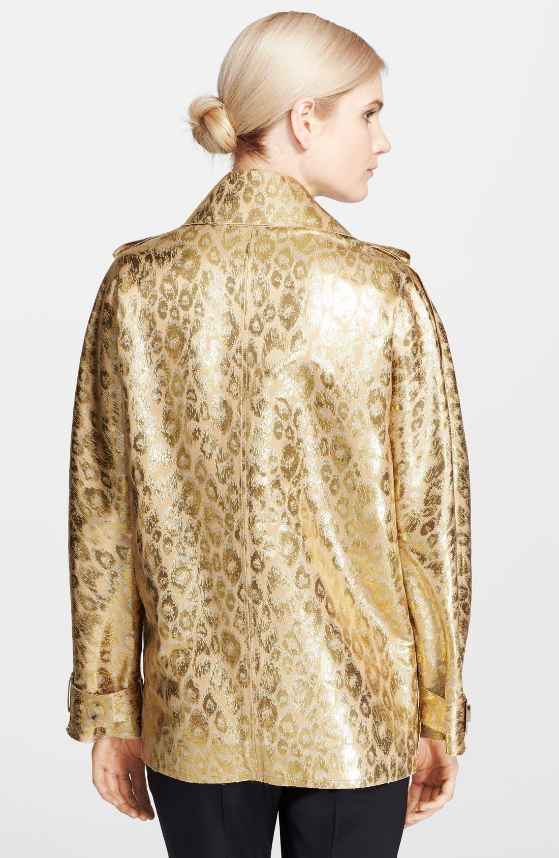 Alternate Image 2  - Lanvin Leopard Brocade Coat
