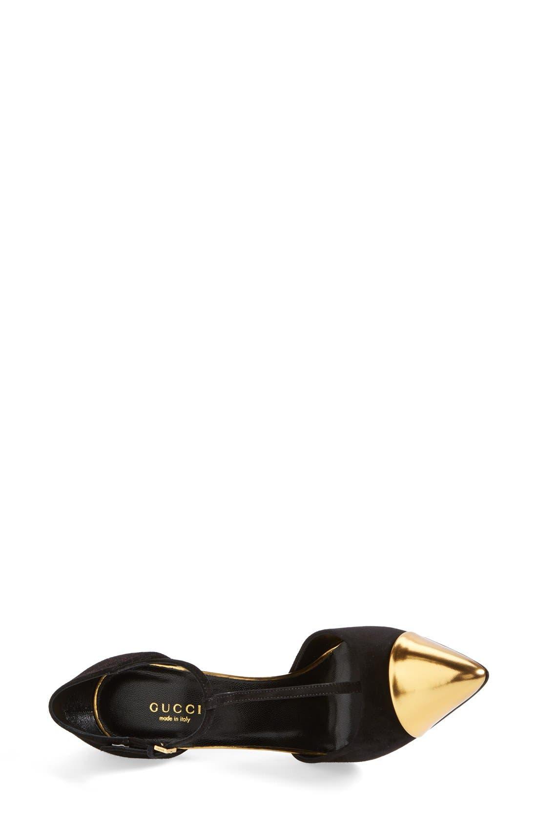 Alternate Image 3  - Gucci 'Coline' T-Strap Cap Toe Pump (Women)