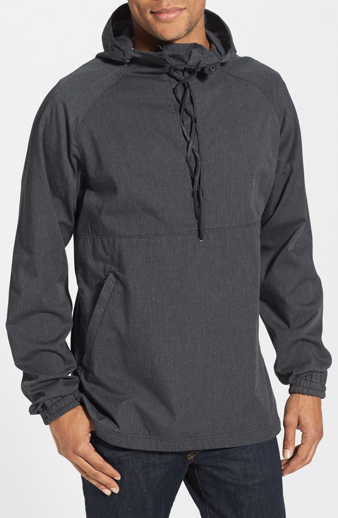 Alternate Image 1 Selected - Nau 'Popu' Organic Cotton Blend Lace Up Coat