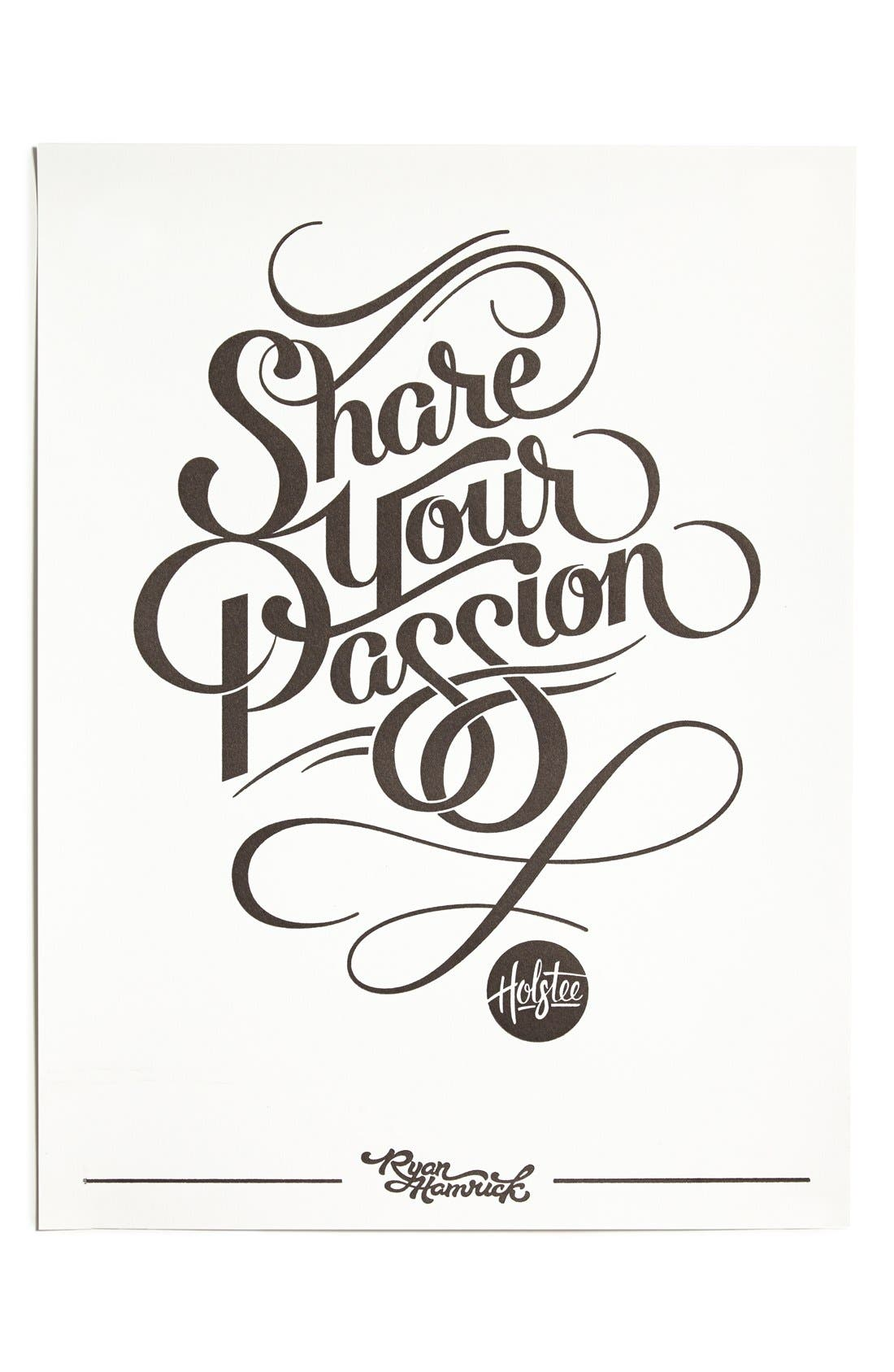 Main Image - Holstee 'Share Your Passion' Poster