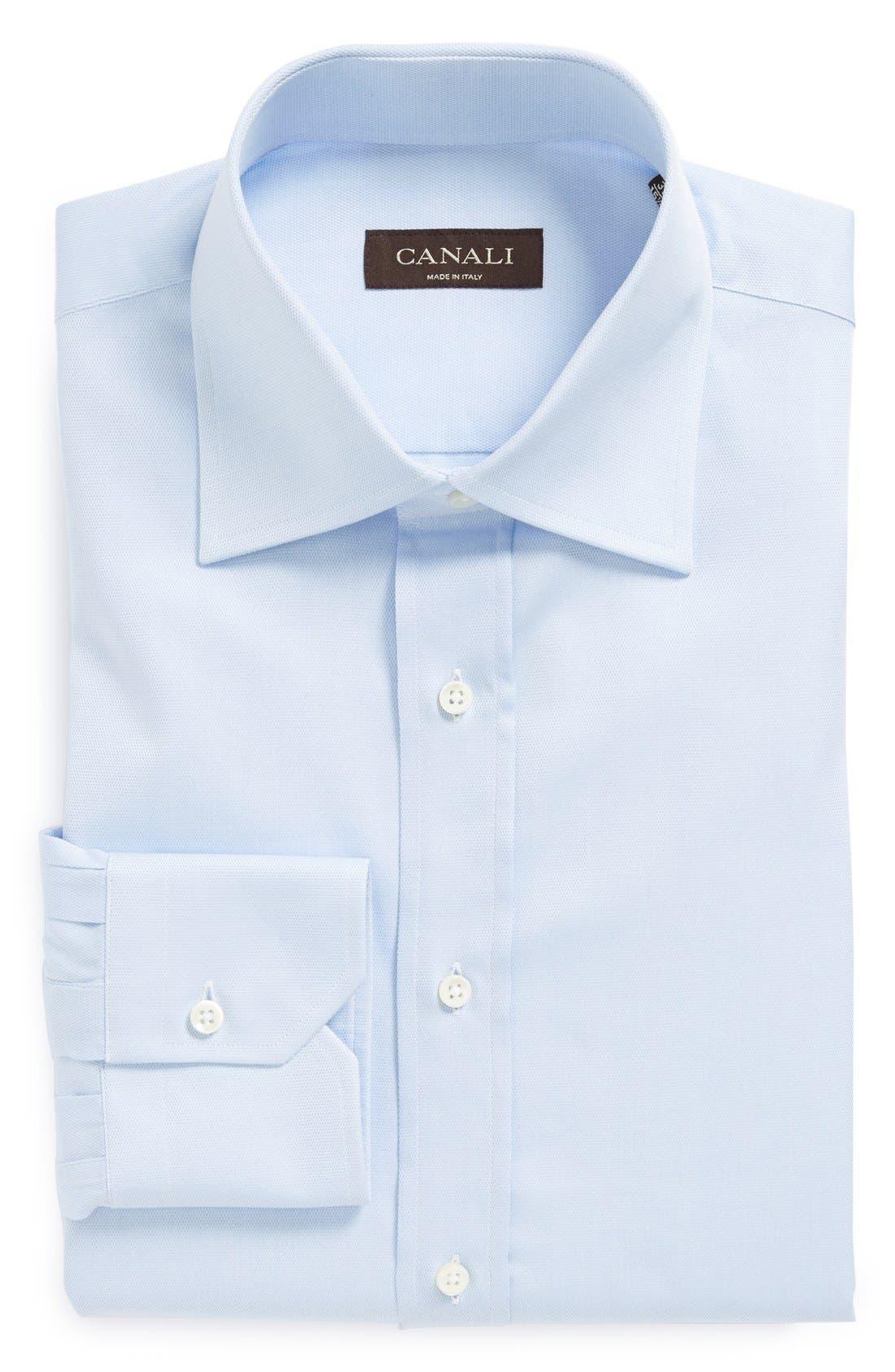Alternate Image 1 Selected - Canali Regular Fit Solid Dress Shirt