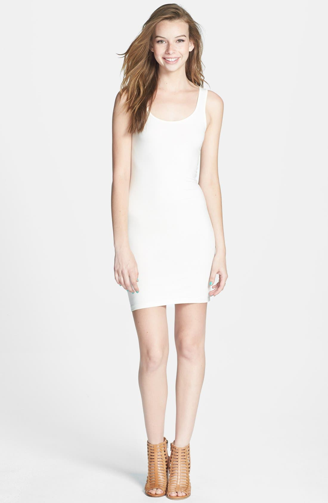 Alternate Image 1 Selected - BP. Double Scoop Tank Dress (Juniors) (Online Only)