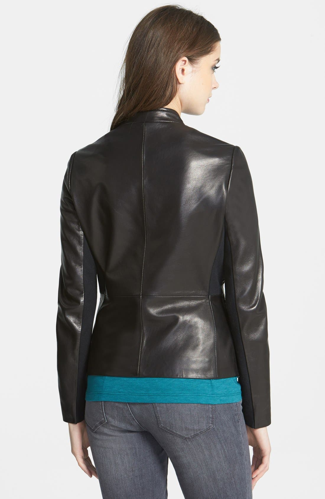 Alternate Image 2  - T Tahari 'Marcille' Leather Scuba Jacket