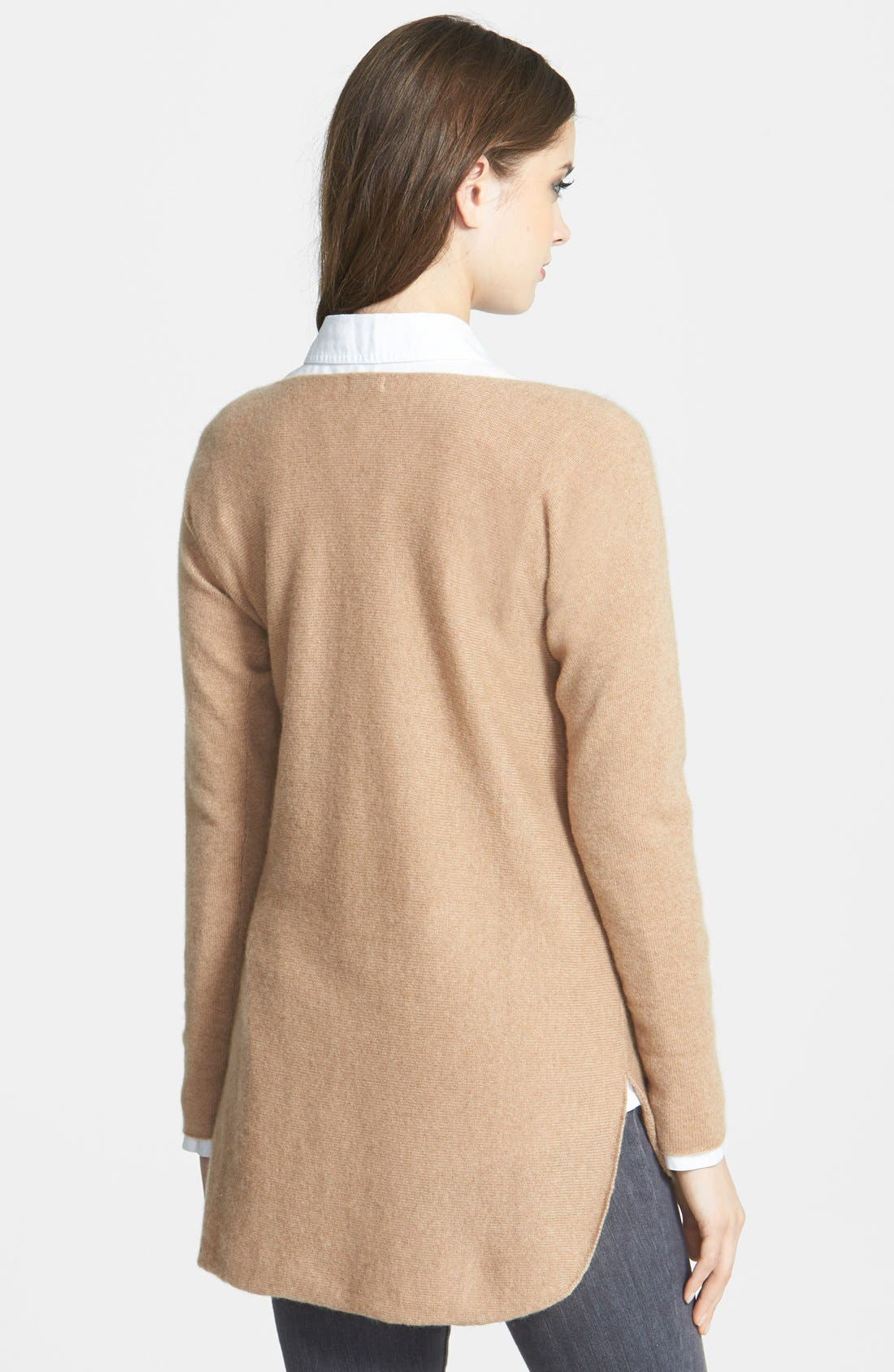 Alternate Image 2  - Halogen® High/Low Cashmere Tunic Sweater