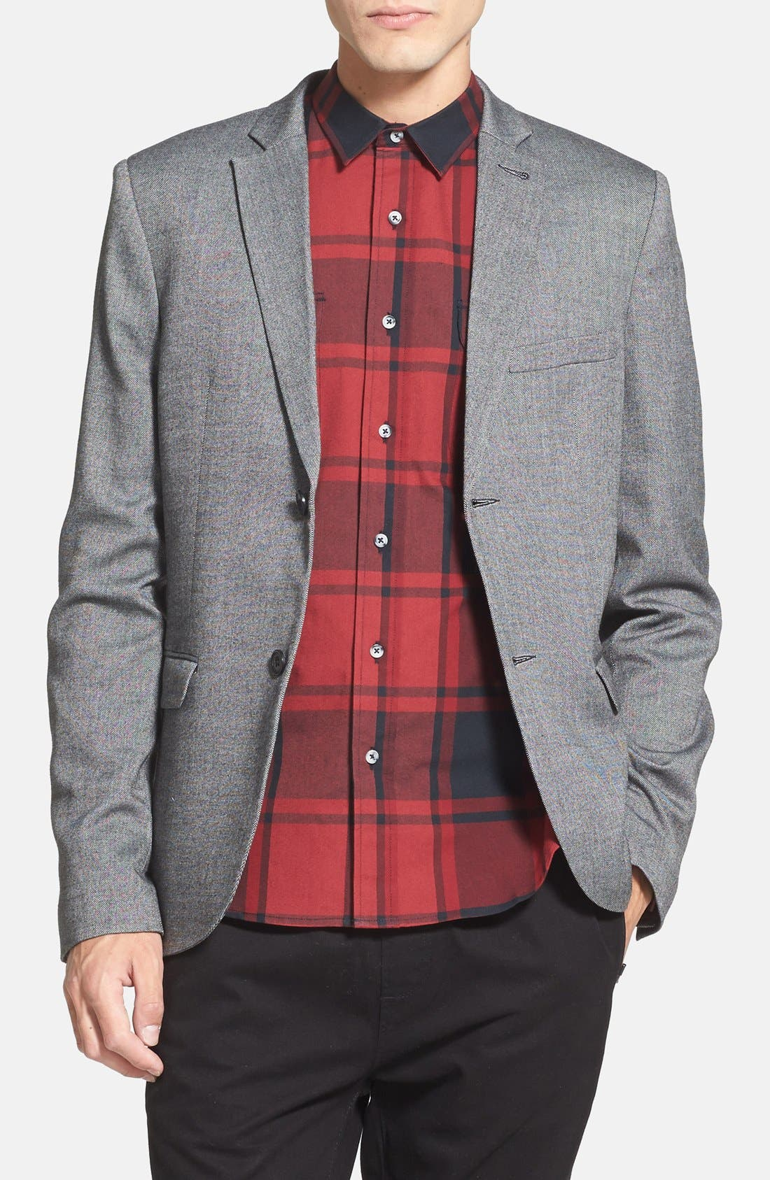 Alternate Image 1 Selected - Topman Oxford Blazer