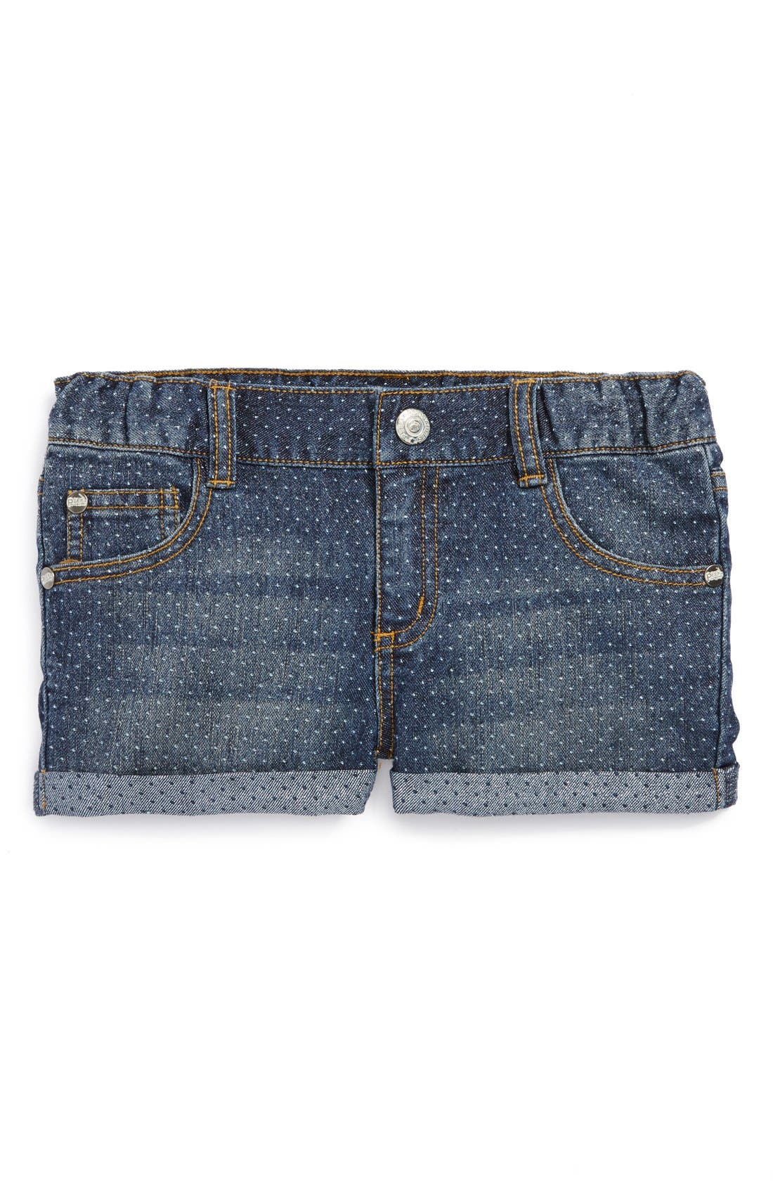 Alternate Image 2  - Peek 'Harper' Denim Shorts (Toddler Girls, Little Girls & Big Girls)