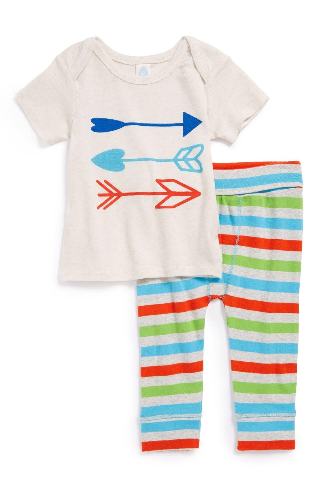 Alternate Image 1 Selected - Stem Baby Organic Cotton Top & Pants (Baby Girls)