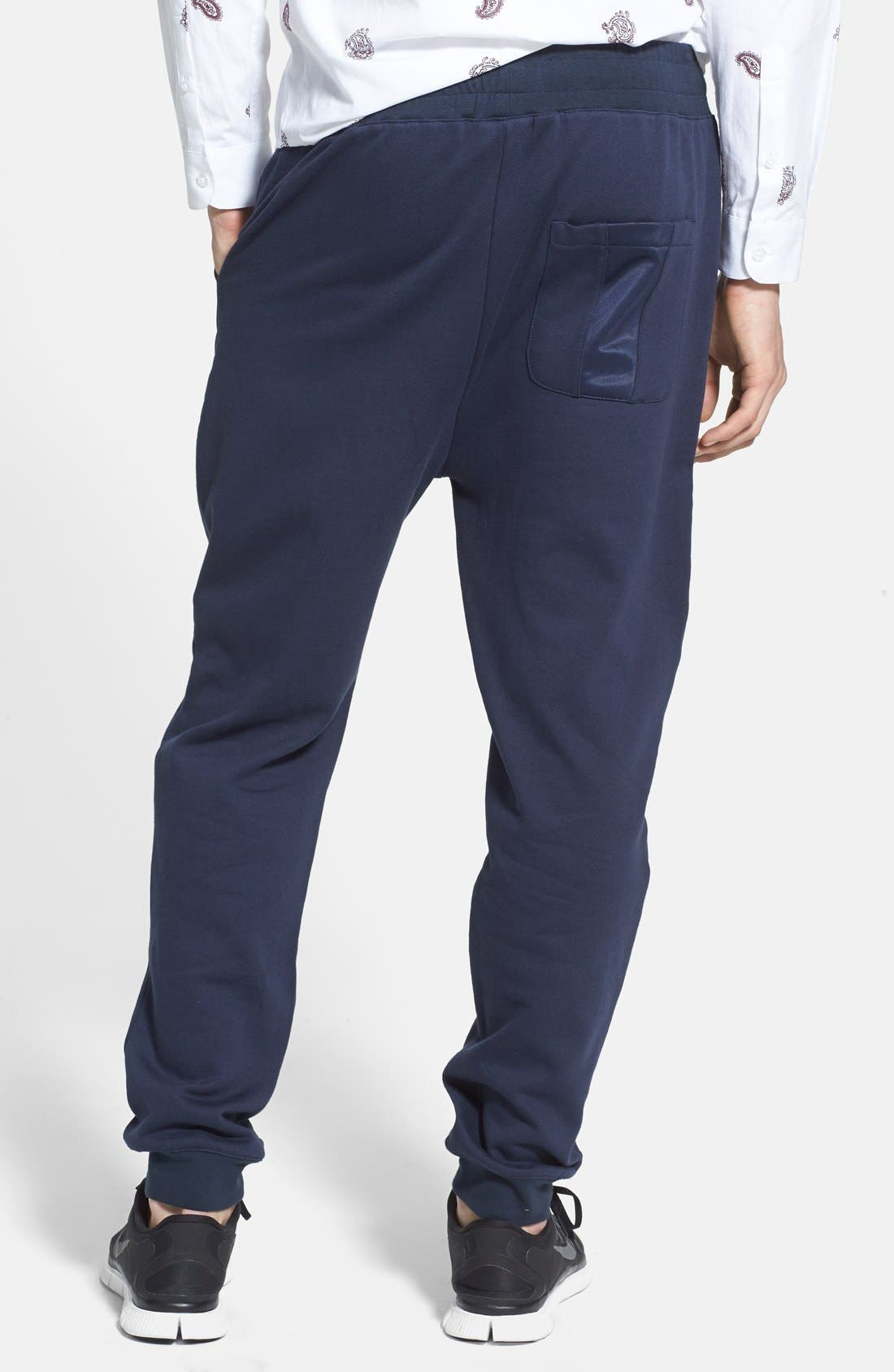 Alternate Image 2  - Topman Skinny Fit Jogger Pants with Patch Panel