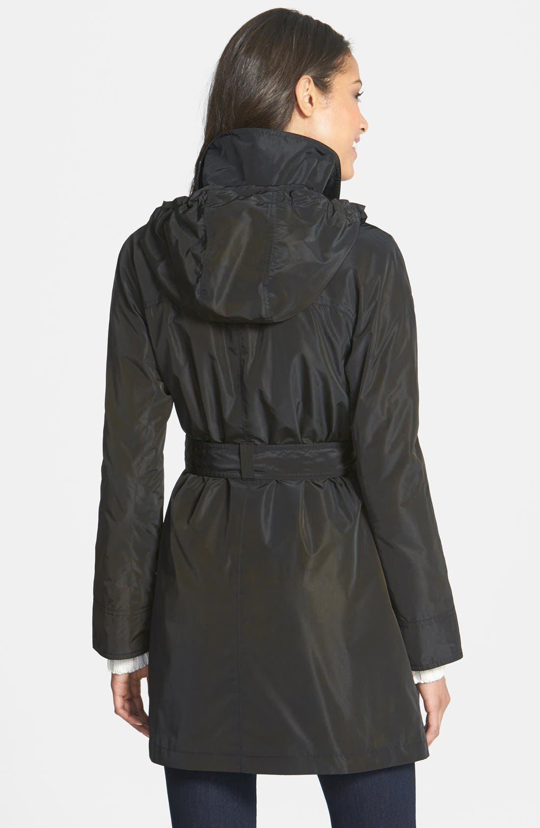 Alternate Image 2  - Ellen Tracy Packable Belted Iridescent Raincoat