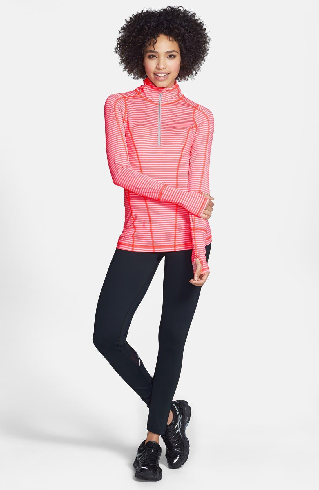 Alternate Image 3  - Zella 'Run' Stripe Half Zip Pullover