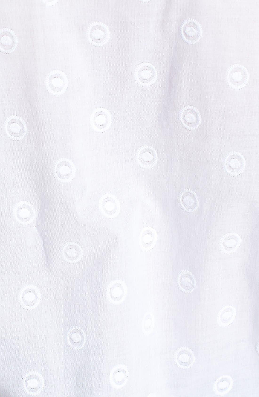 Alternate Image 3  - Foxcroft Embroidered Shaped Cotton Shirt (Plus Size)
