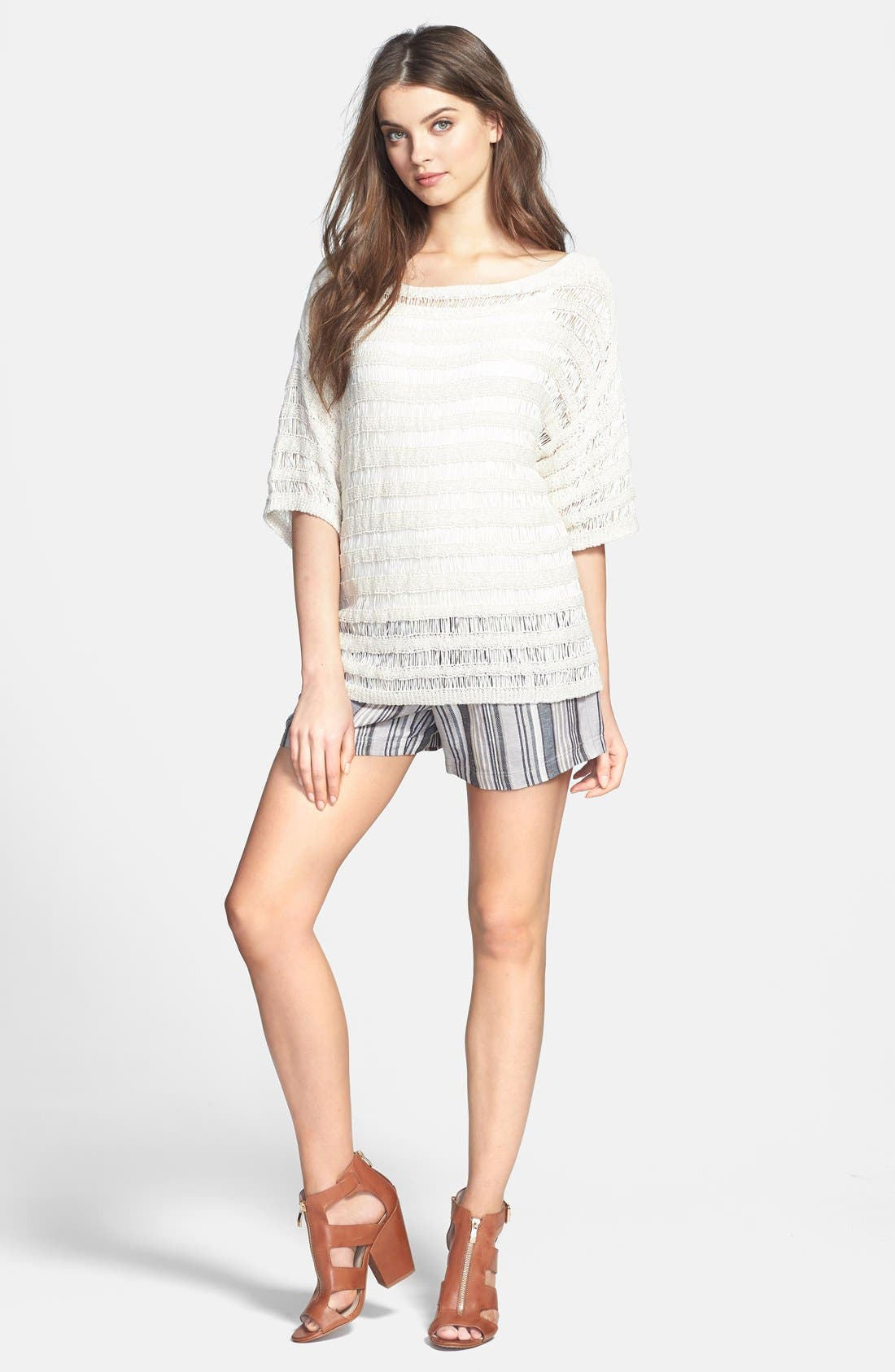Alternate Image 4  - Vince Camuto Stripe Linen Blend Shorts