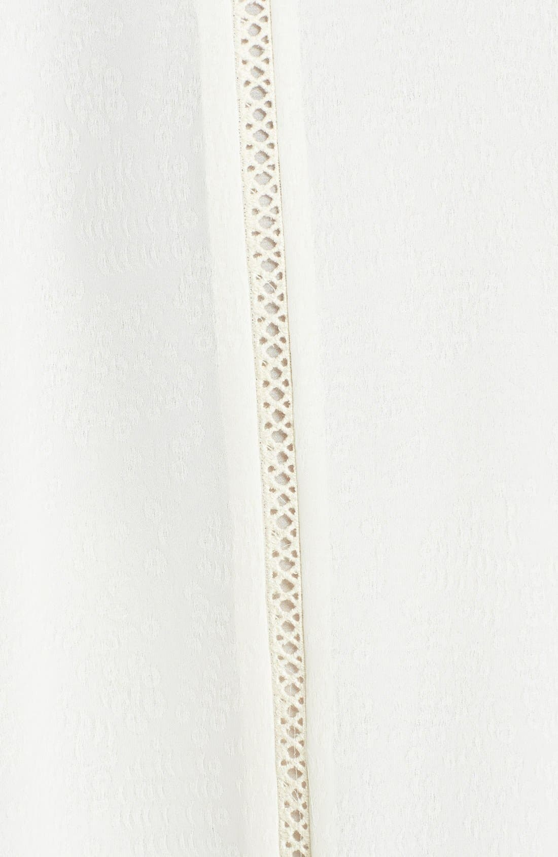 Alternate Image 3  - ASTR Crochet Cuff Jacquard Shift Dress