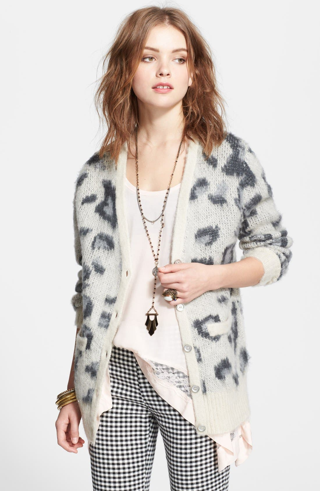 Alternate Image 1 Selected - Free People 'Sweater Out of Africa' Long Cardigan