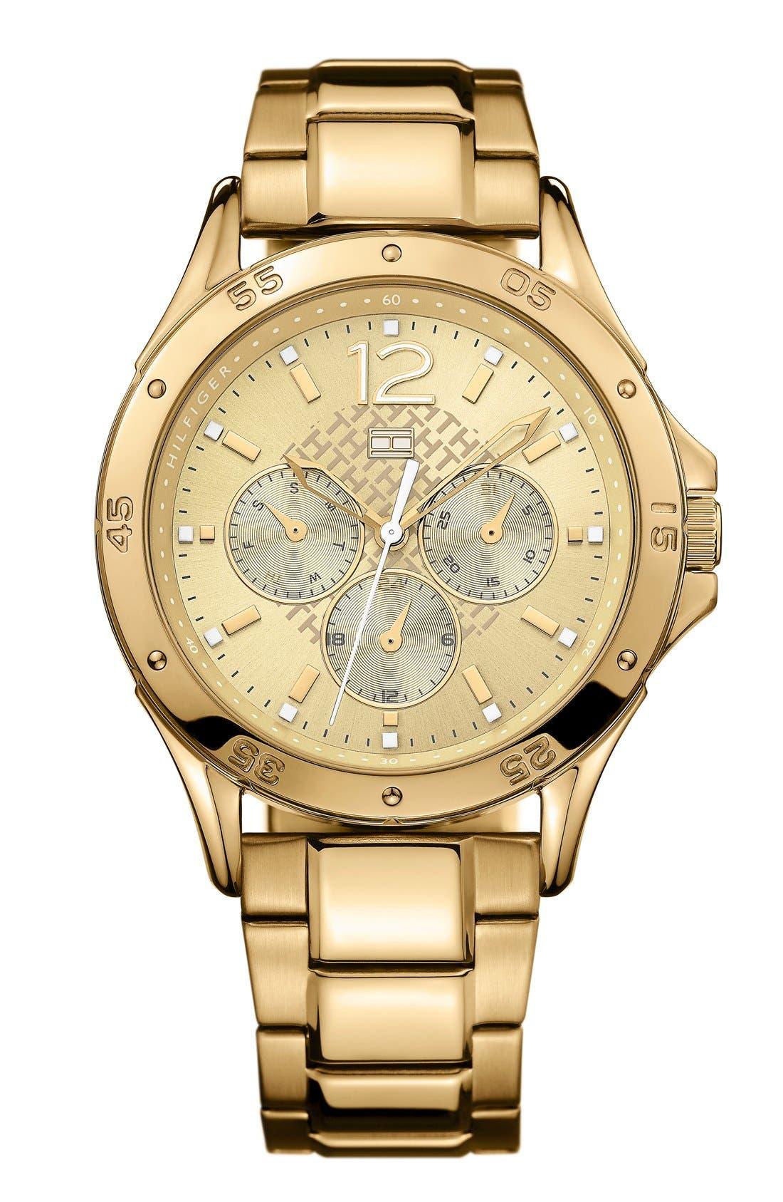 Main Image - Tommy Hilfiger Multifunction Bracelet Watch, 40mm
