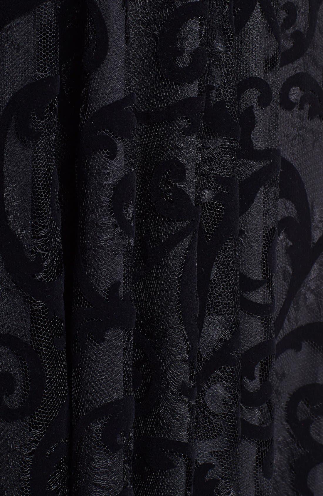 Alternate Image 3  - Isaac Mizrahi New York Lace Burnout Fit & Flare Dress (Petite)