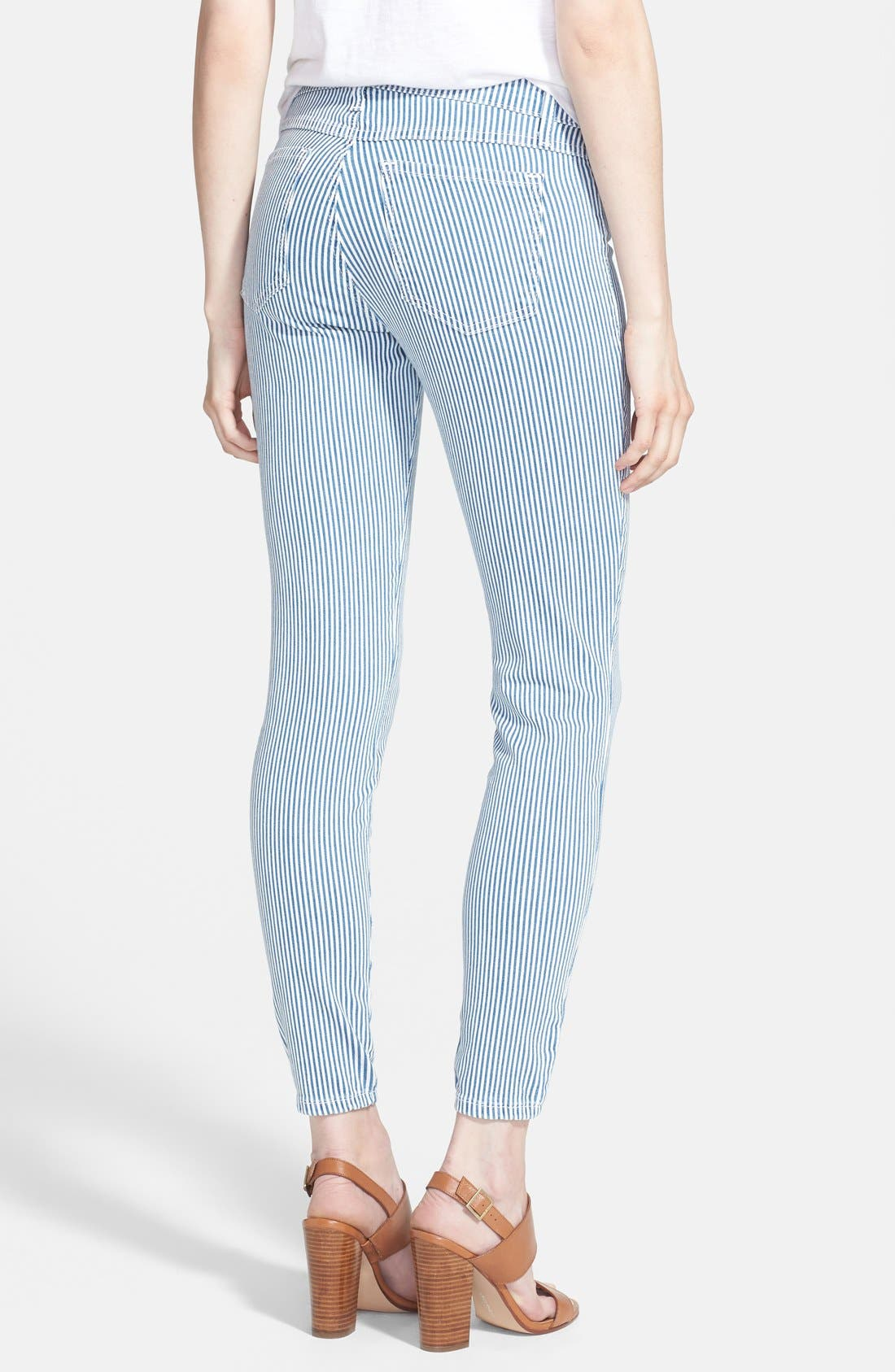 Alternate Image 2  - Yoga Jeans by Second Denim Stripe Skinny Jeans