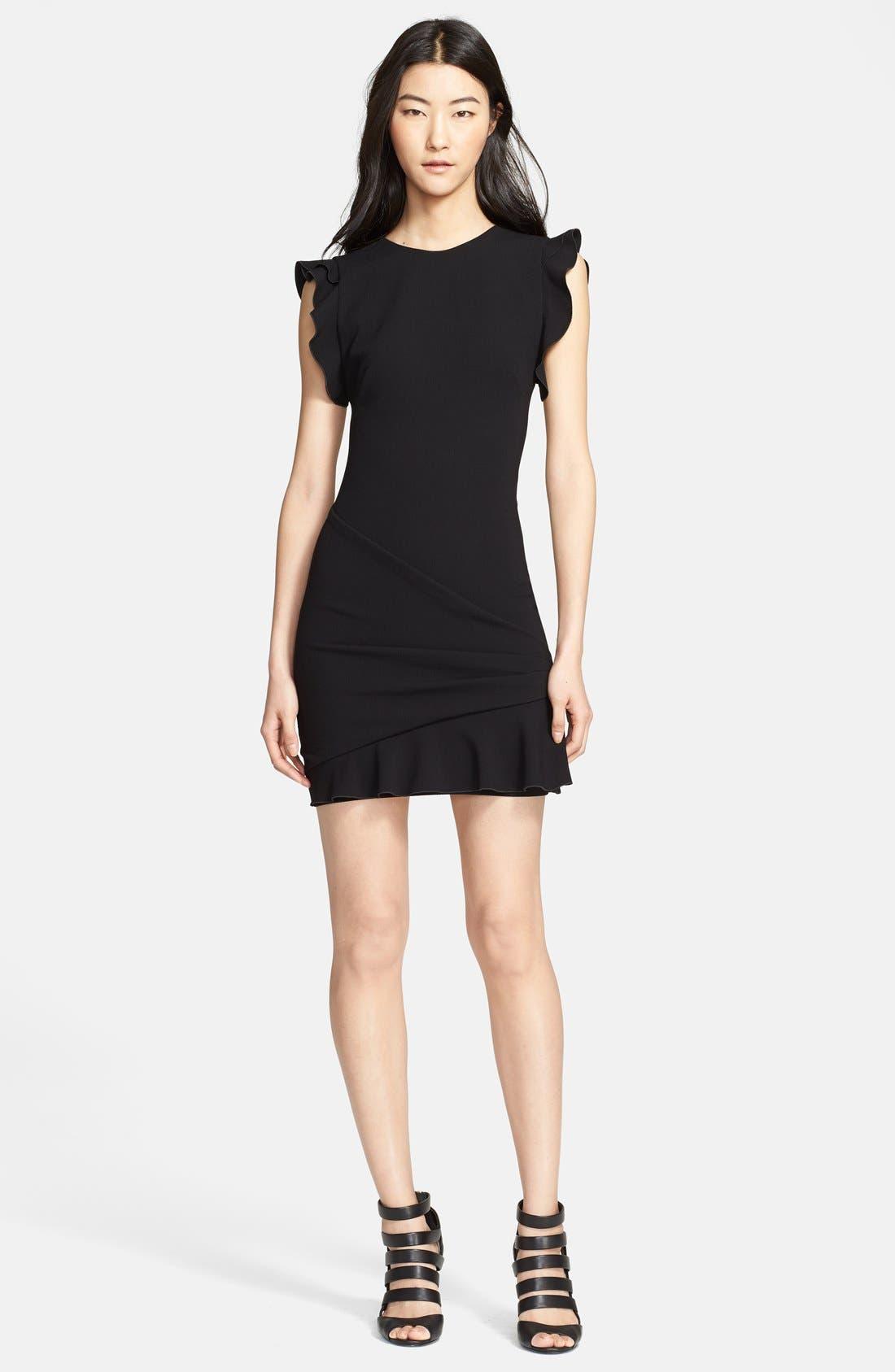 Main Image - Emilio Pucci Ruffled Sleeve Stretch Wool Dress