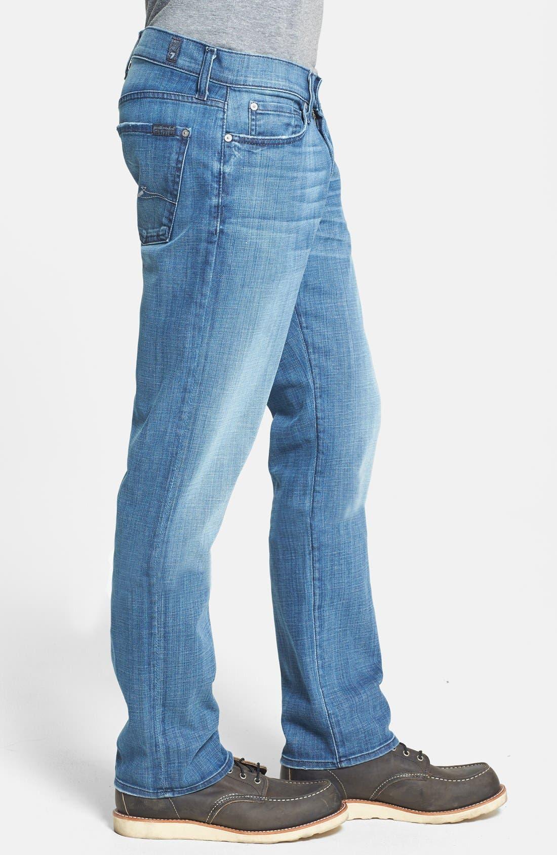 Alternate Image 3  - 7 For All Mankind® 'Slimmy' Slim Straight Leg Jeans (Blue Stone)