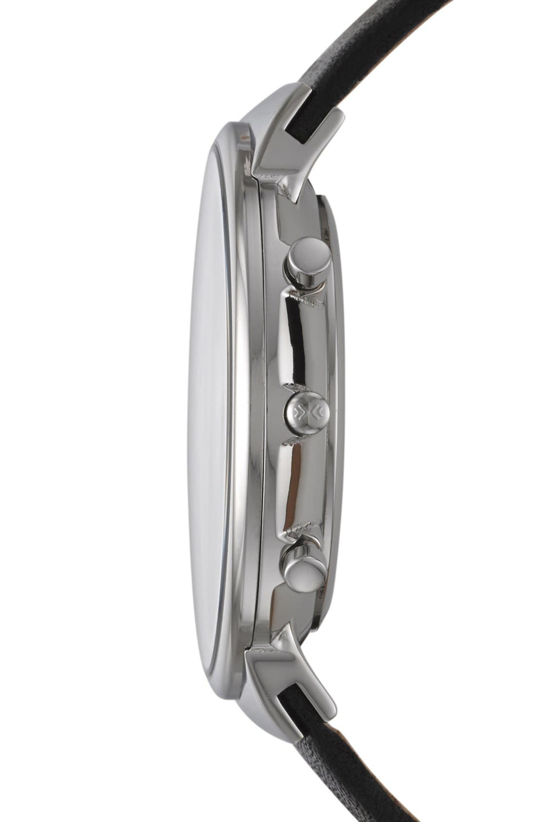Alternate Image 3  - Skagen Chronograph Leather Strap Watch, 40mm